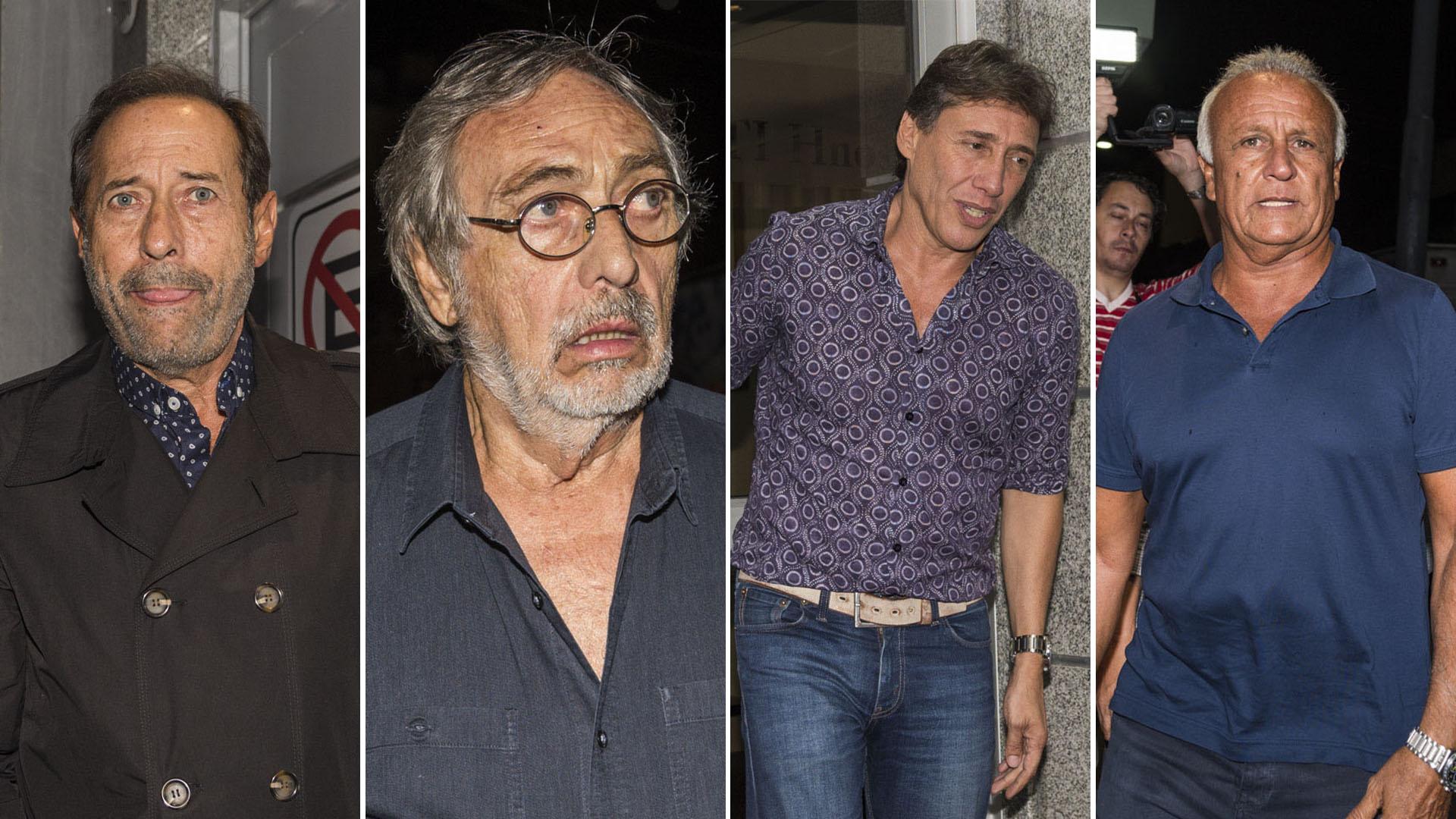 Guillermo Francella, Luis Brandoni, Fabián Gianola y Miguel del Sel fueron algunos de los famosos que le dieron el último adiós a Disi, un actor querido en el ambiente (Julieta Ferrario / Teleshow)