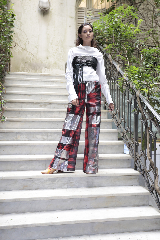 La superposición de prendas, otra caracteristica distintiva de Churba