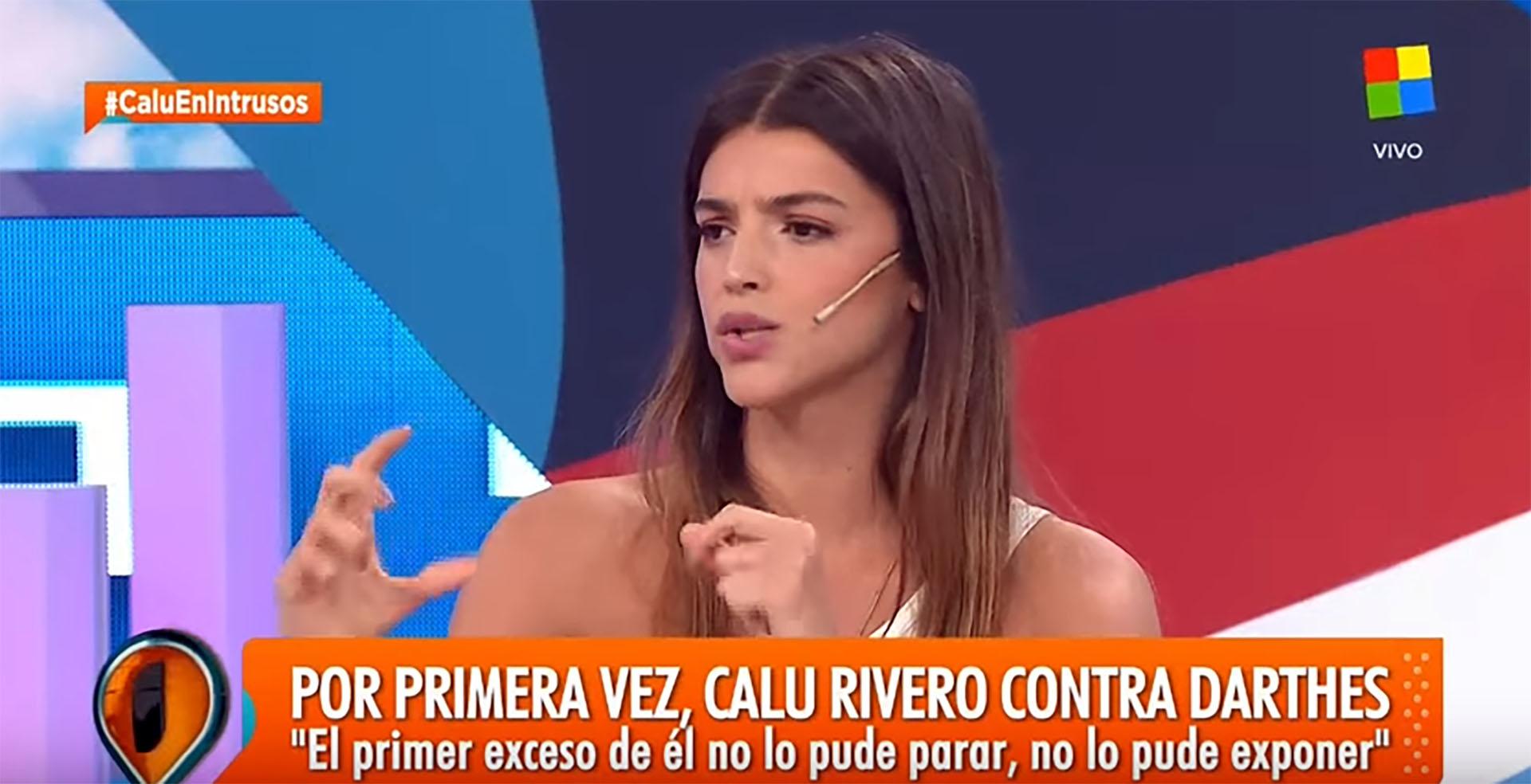 """Calu Rivero habló en """"Intrusos"""" sobre los supuestos excesos de Juan Darthés, su ex compañero de """"Dulce amor"""": """"Le dije que me estaba haciendo mal y que lloraba"""""""