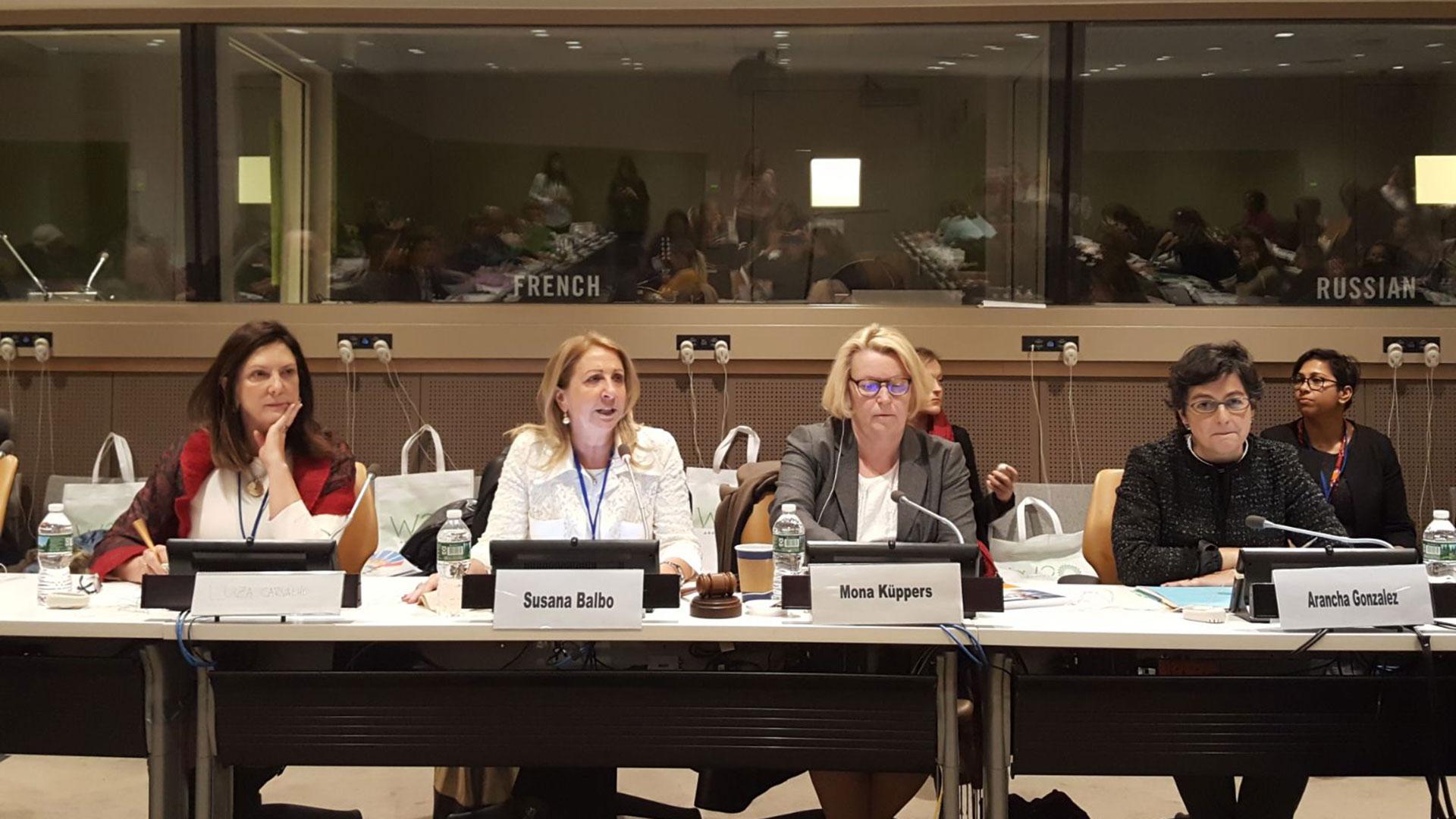 Susana Balbo en la Comisión de la Condición Jurídica y Social de la Mujer de la ONU