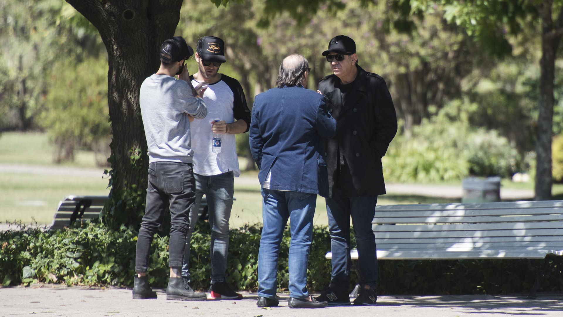 Raúl y Nacho Lecouna, con Benjamín Amadeo y Miguel Ángel Rodríguez