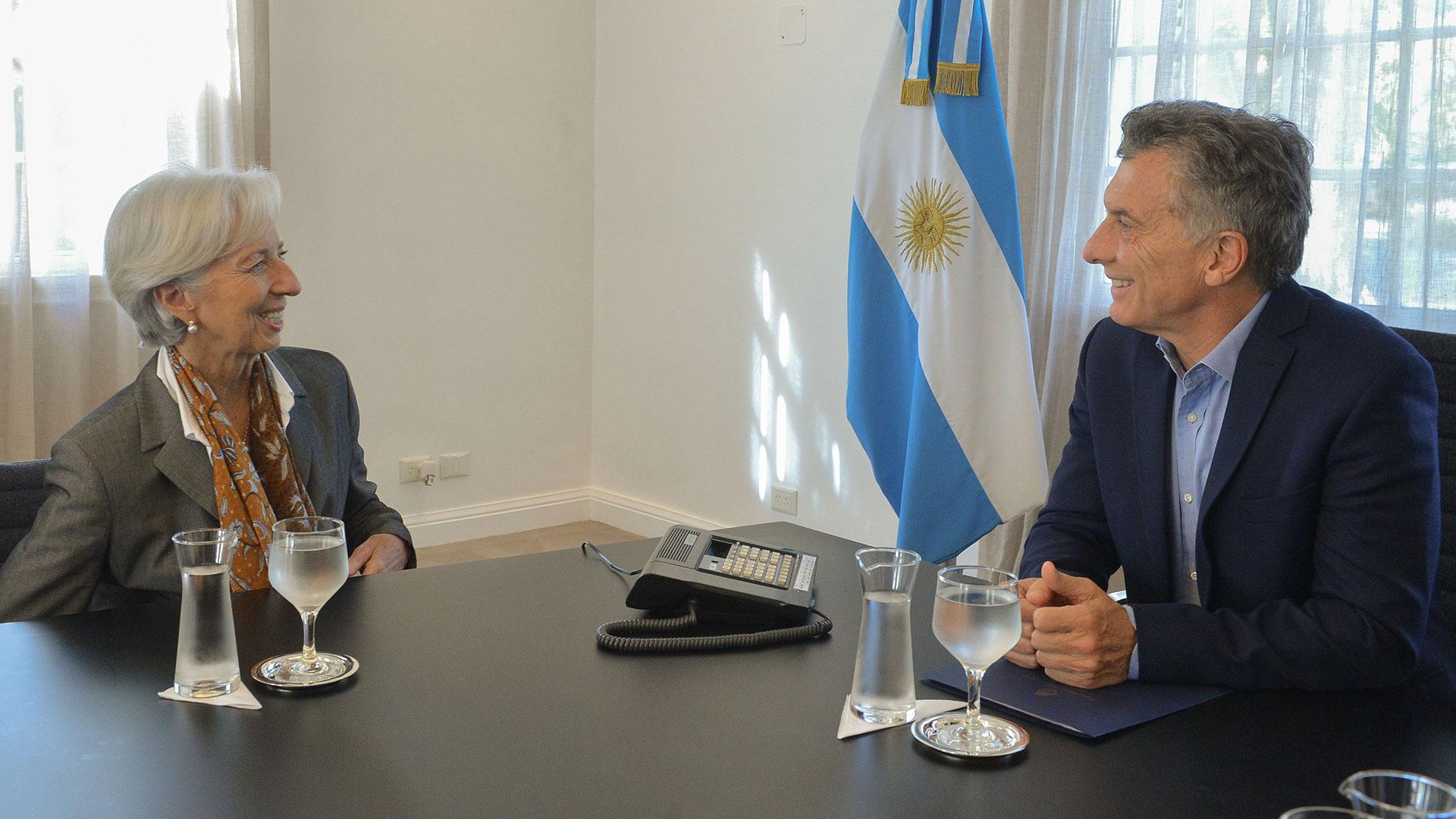 Mauricio Macri y Christine Lagardedurante la visita de la directora del FMI el pasado marzo