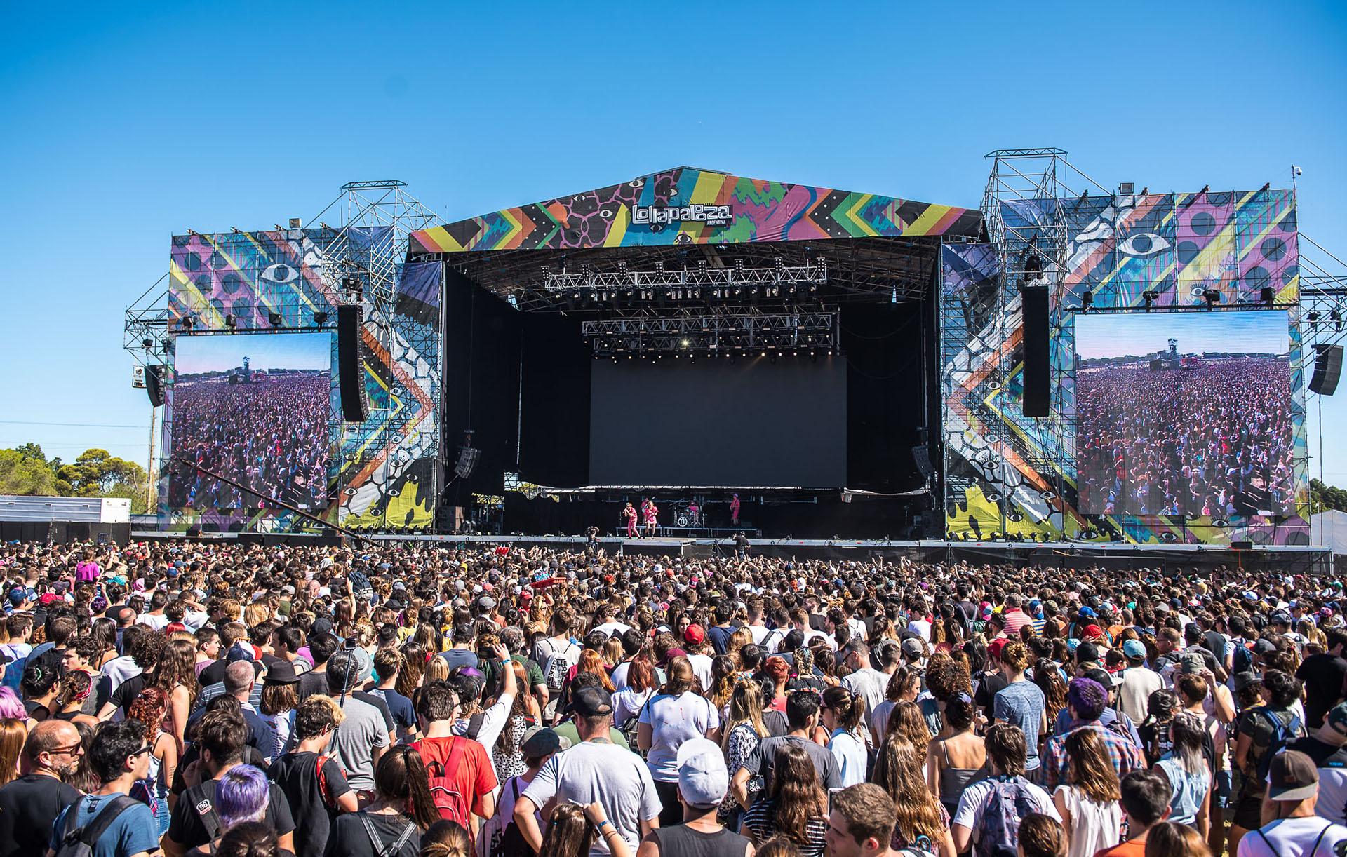 Uno de los escenarios del Lollapalooza 2018