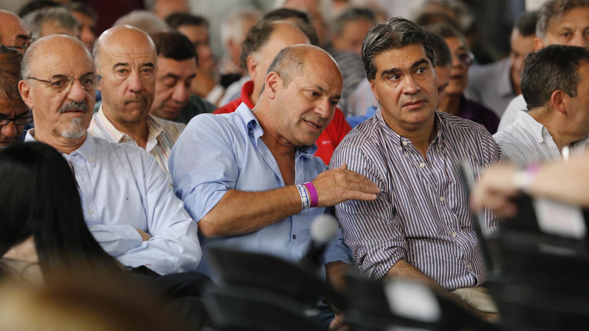 Carlos Tomada, Mario Secco y Jorge Capitanich