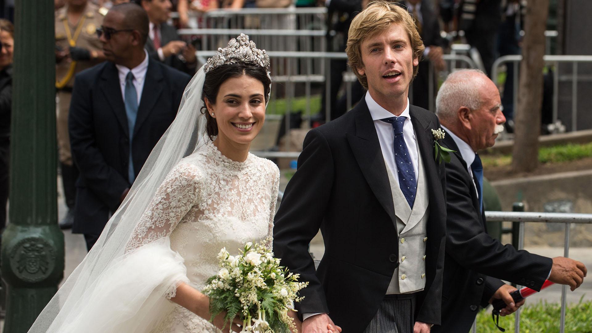 La pareja, contrajo matrimonio por civil en el año pasado en Londres. Las celebraciones continuaron durante el fin de semana.
