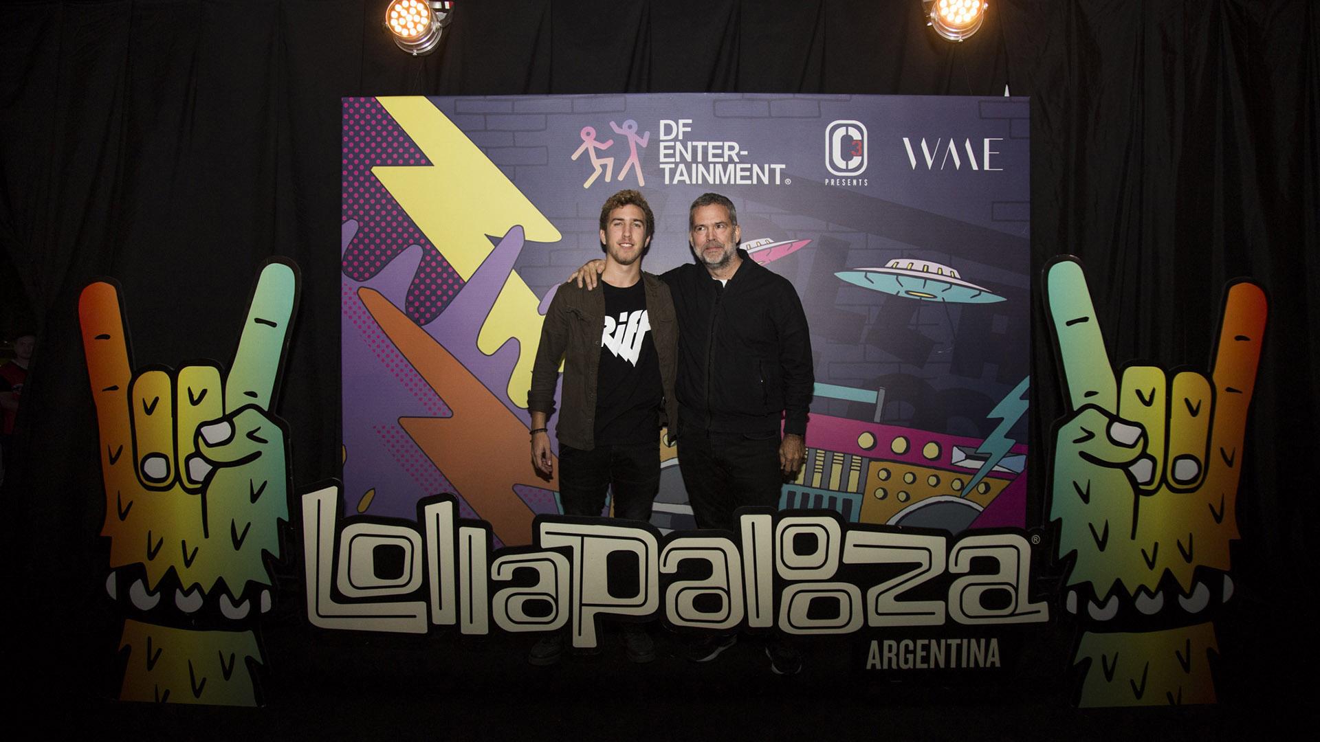 Augusto Rodríguez Larreta y su hijo Marcos