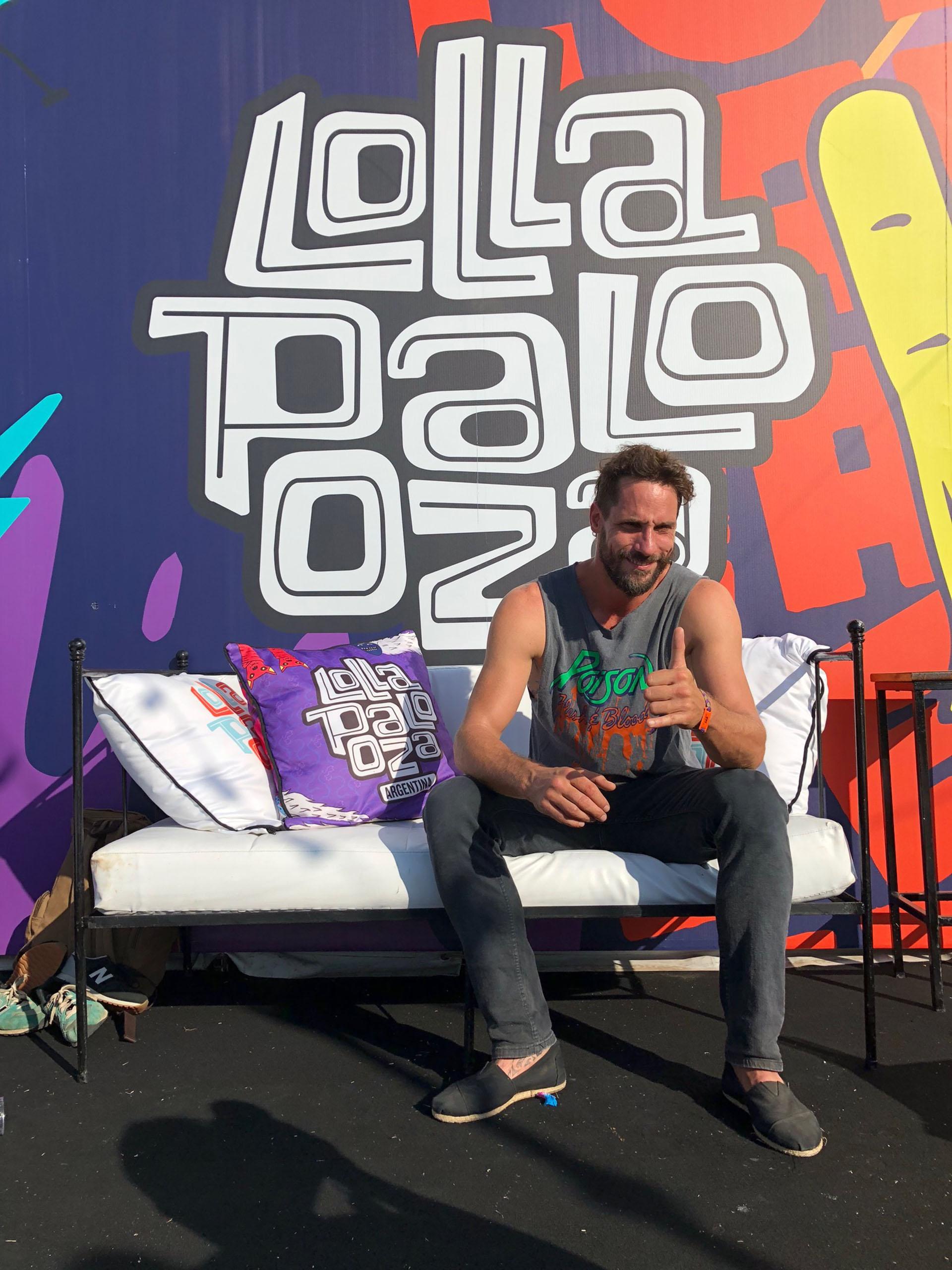 Gonzalo Valenzuela, fan del Lollapalooza