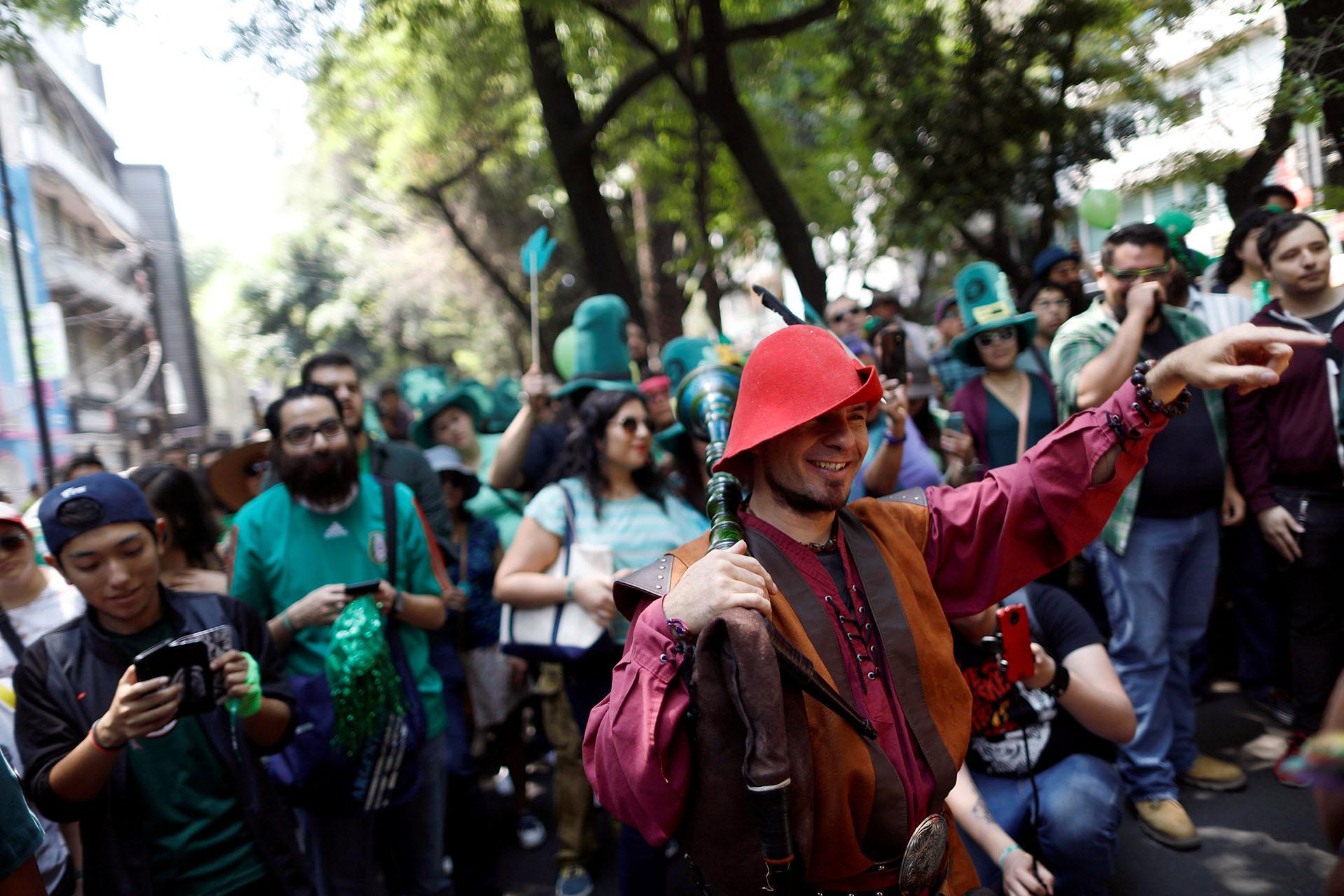 Desfile de San Patricio en la Ciudad de México (REUTERS/Edgard Garrido)