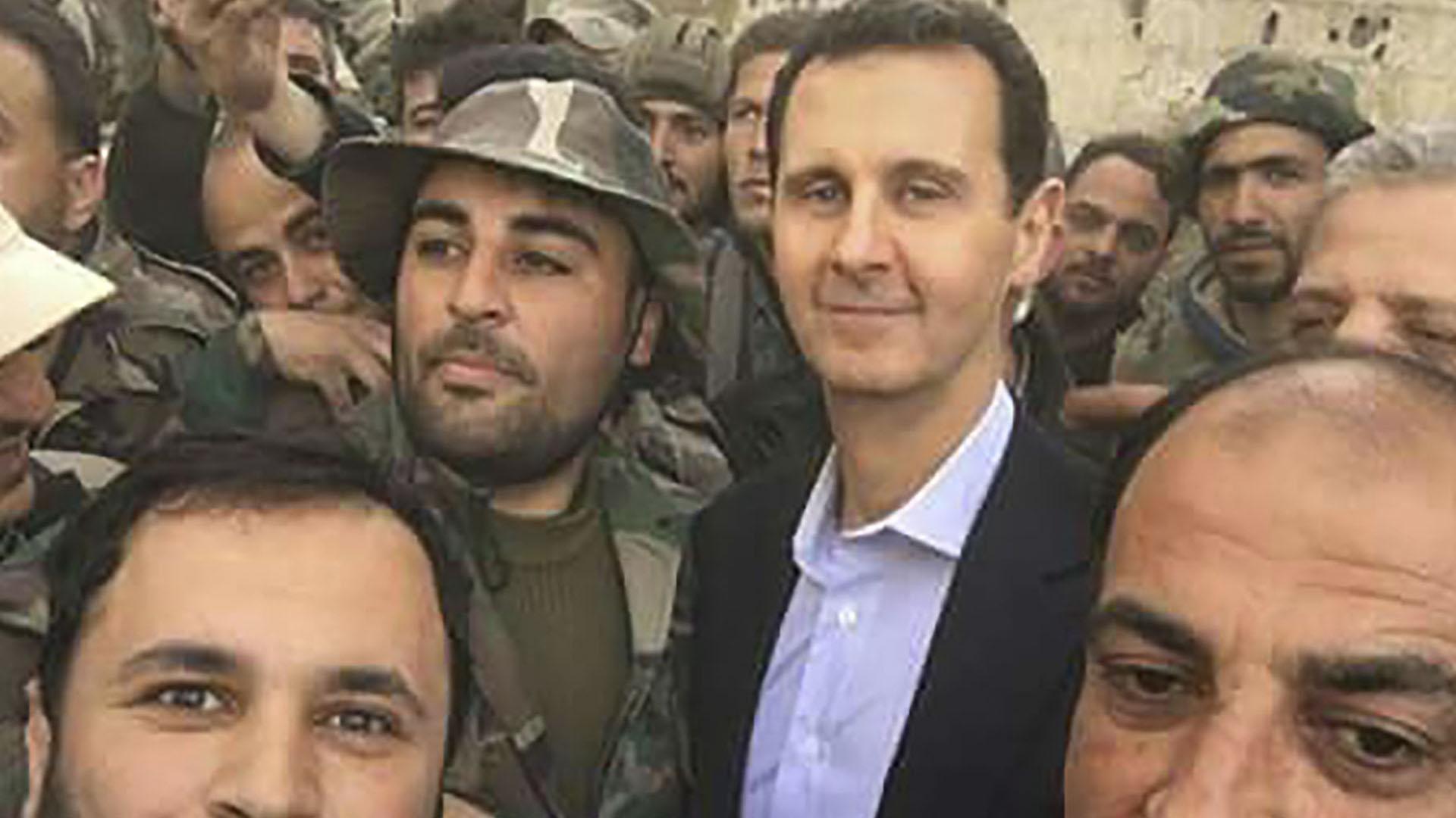 Bashar al Assad, en Guta Oriental