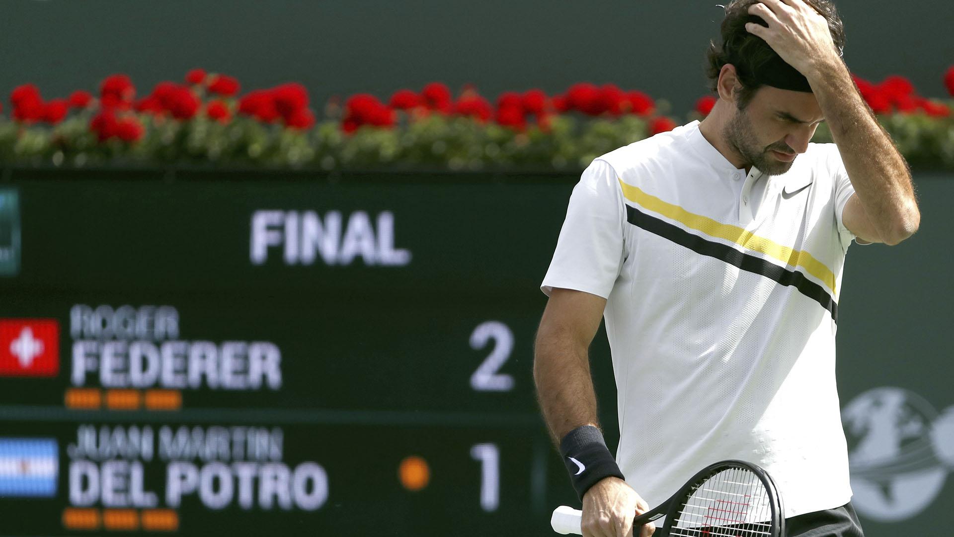 Roger Federer perdió su primer partido del año (EFE)
