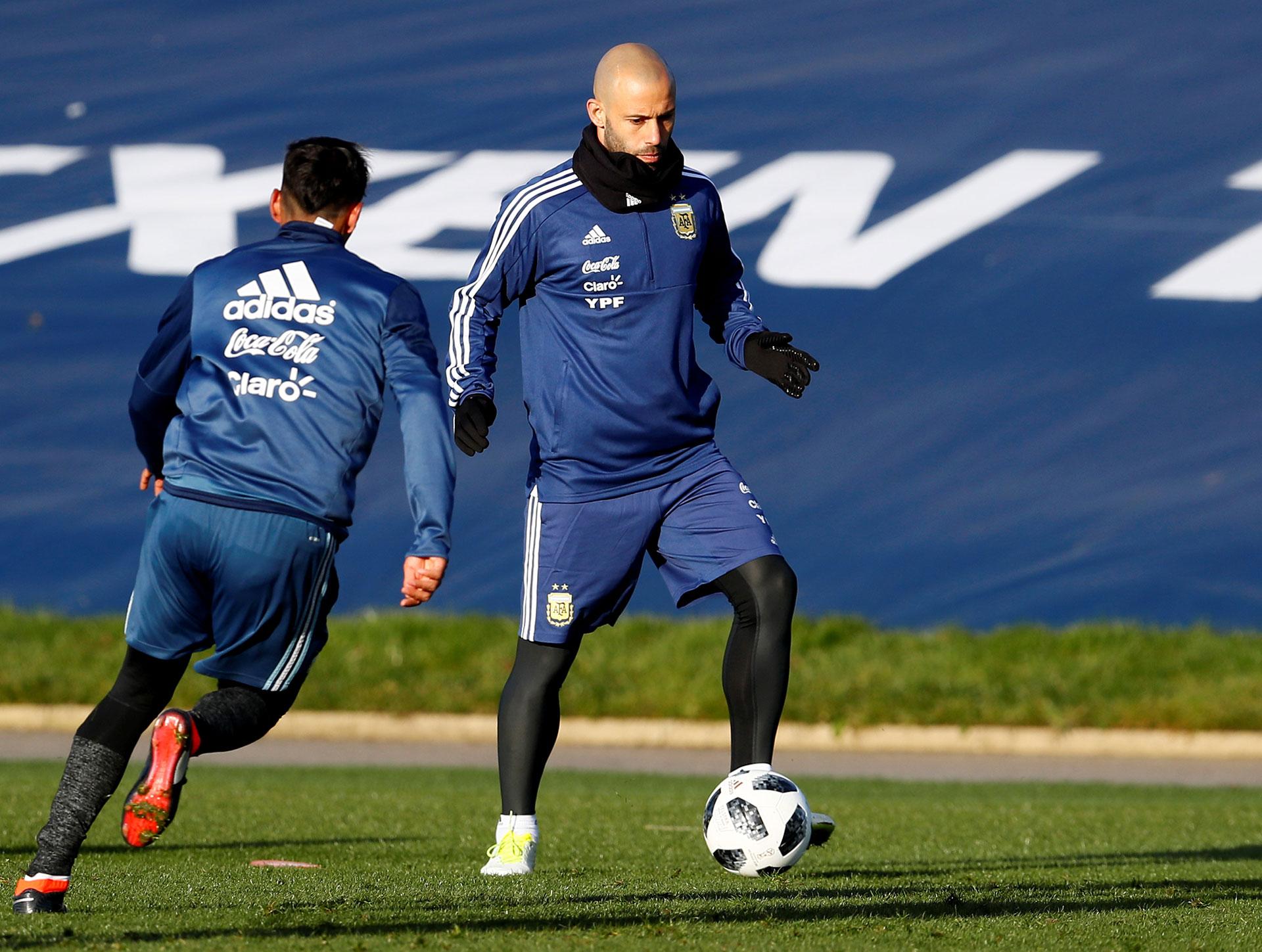Javier Mascherano llegó el lunes por la madrugada desde China
