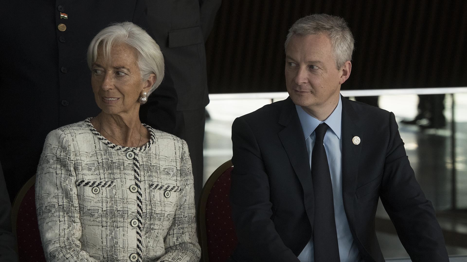 La presidente del FMI con Bruno Le Marie, ministro de Economía francés