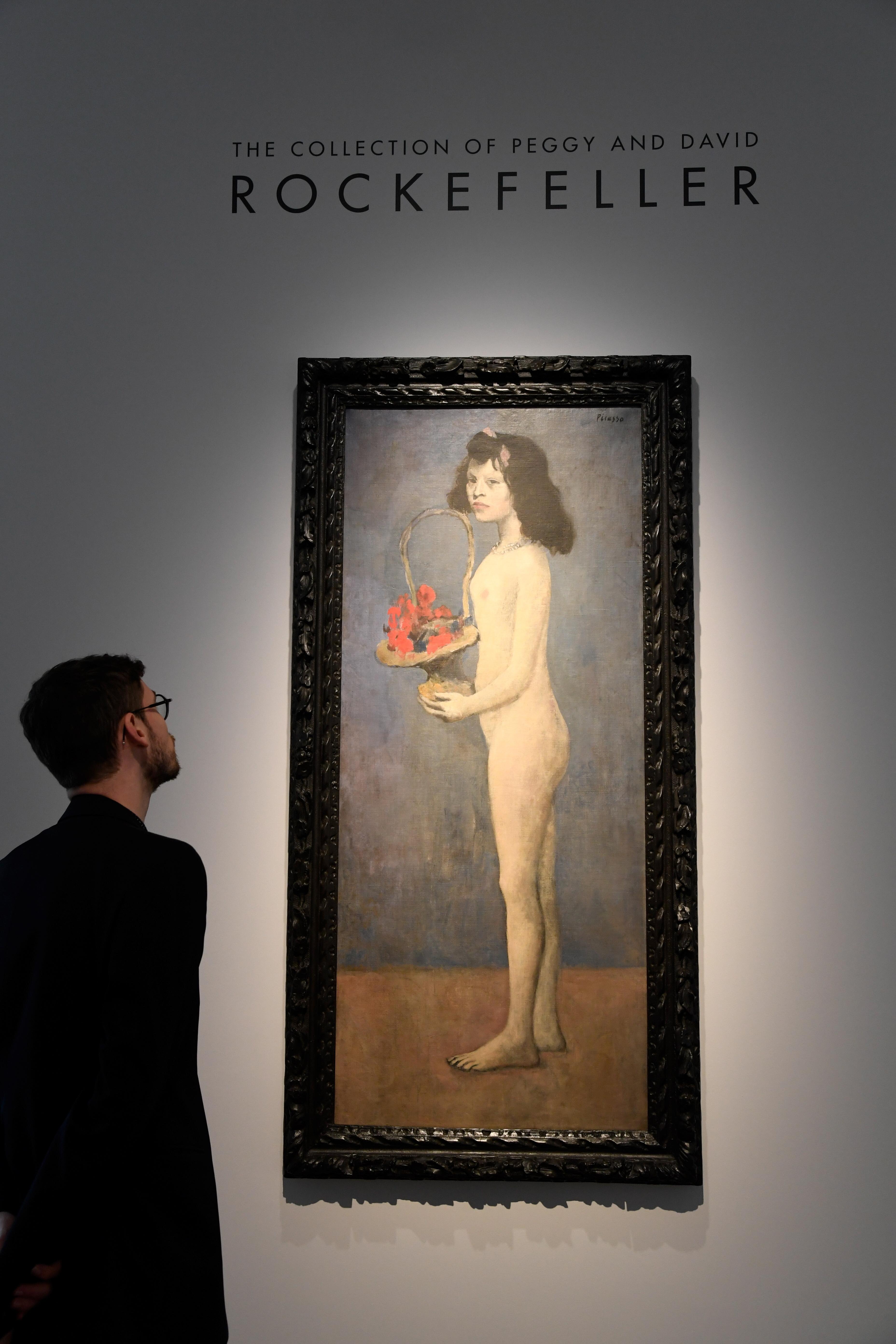 La obra de Picasso fue pintada en 1905 en París. Es la mejor valuada de la colección (AFP)