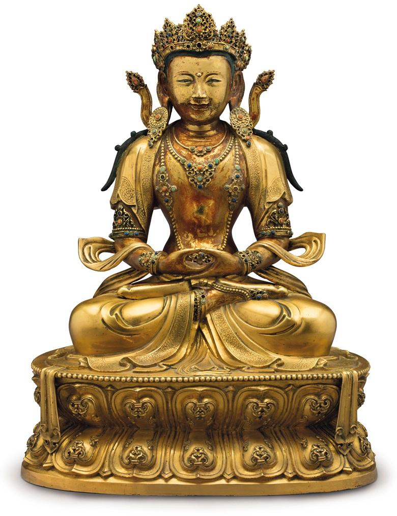 Una figura imperial de Amitayus, del período chino Kangxi (siglo XVII), valuada en medio millón de dólares
