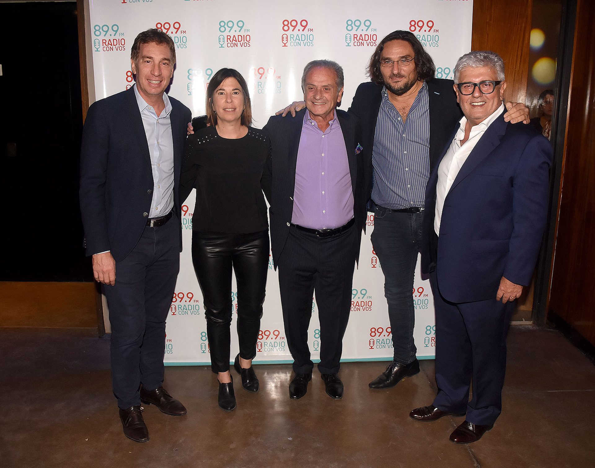 Diego Santilli, vicejefe de Gobierno porteño, María O'Donnell, Beto Vijnovsky, Martín Kweller y Carlos Gorosito