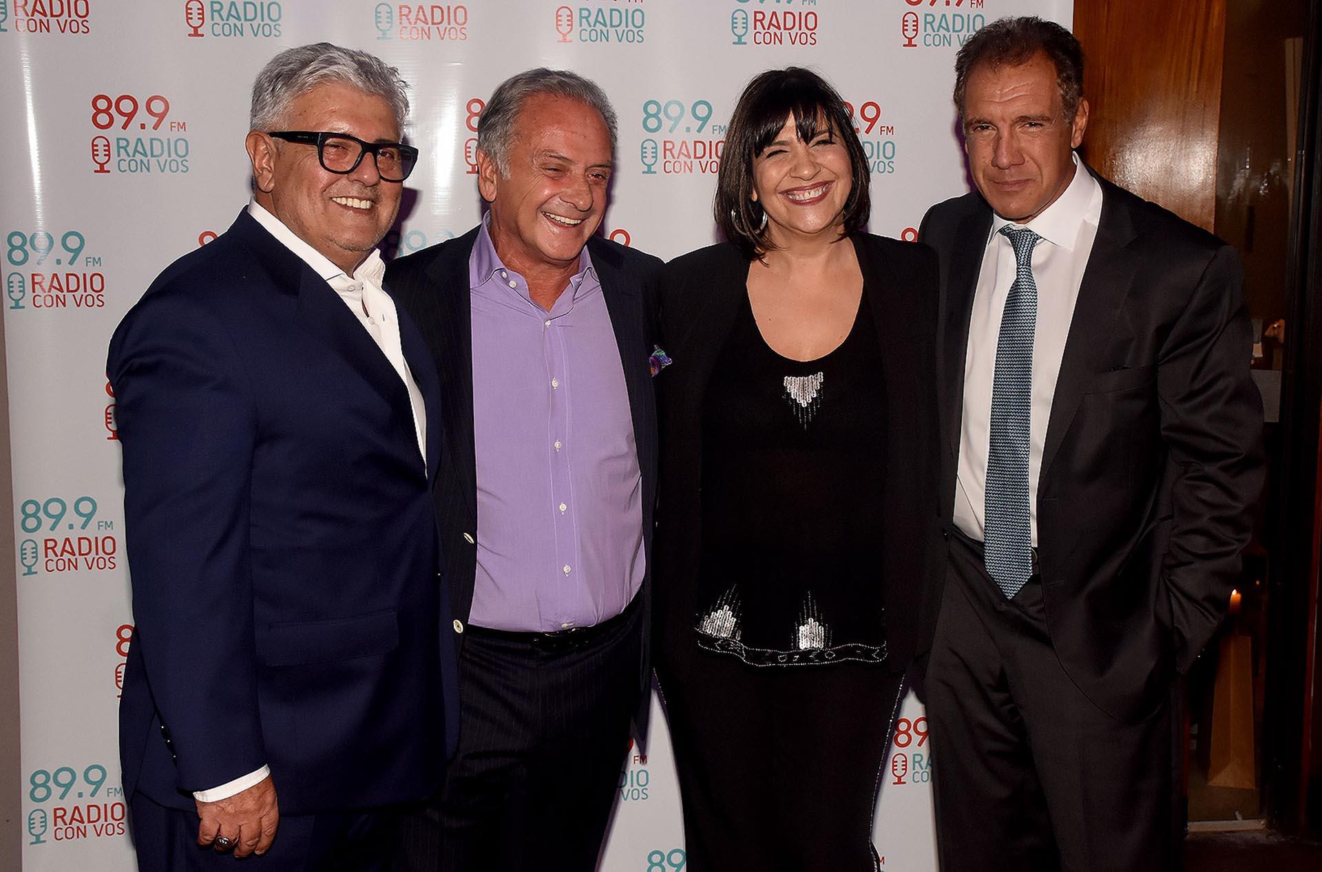 Carlos Gorosito, Beto Vijnovsky,Elizabeth Vernaci y Daniel Hadad