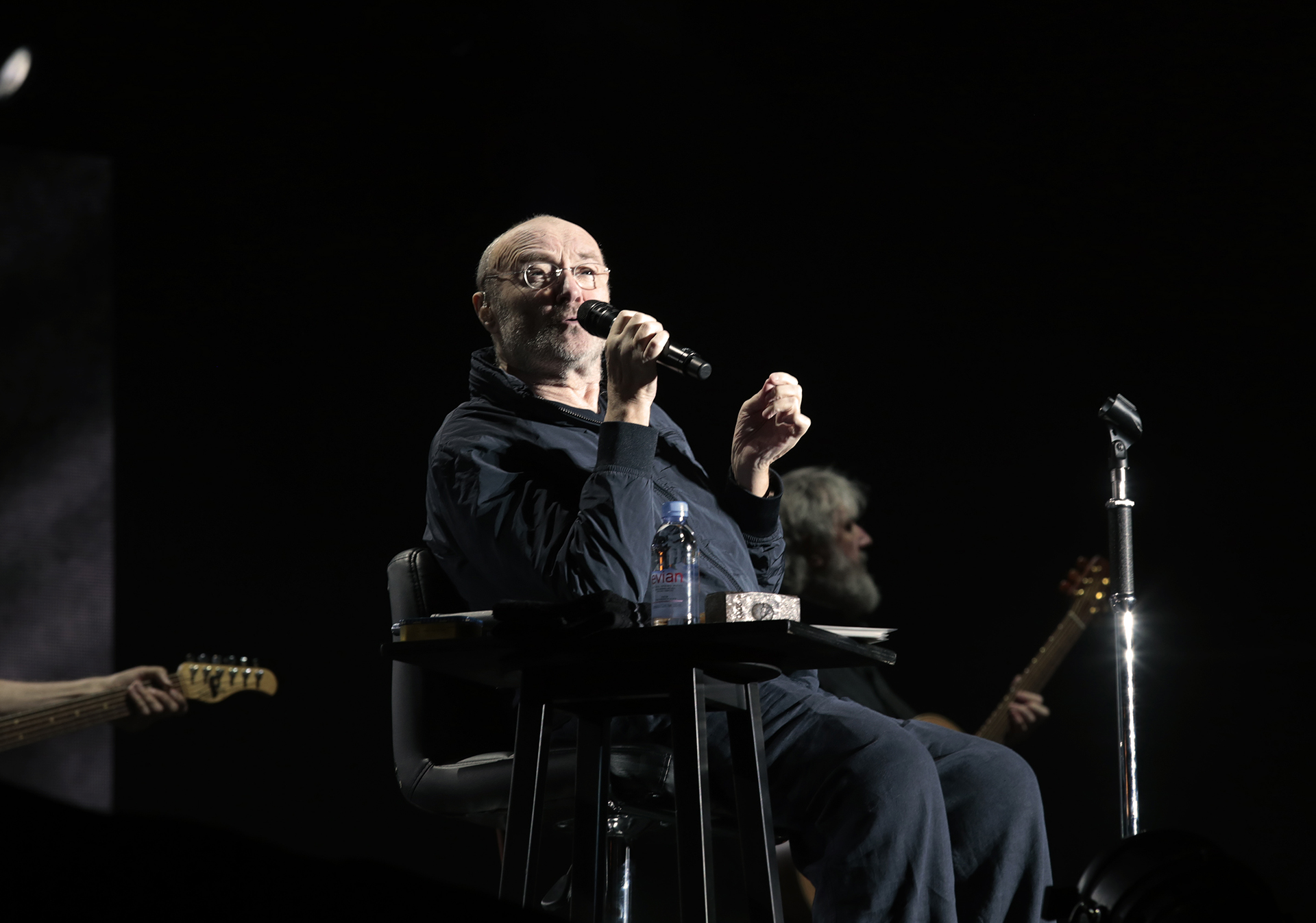 """Sir Phil Collins interpretó temas como """"Against All Odds"""", """"Another Day in Paradise"""", """"I Miss Again"""" y """"Throwing It All Again"""" (Christian Bochichio / Teleshow)"""