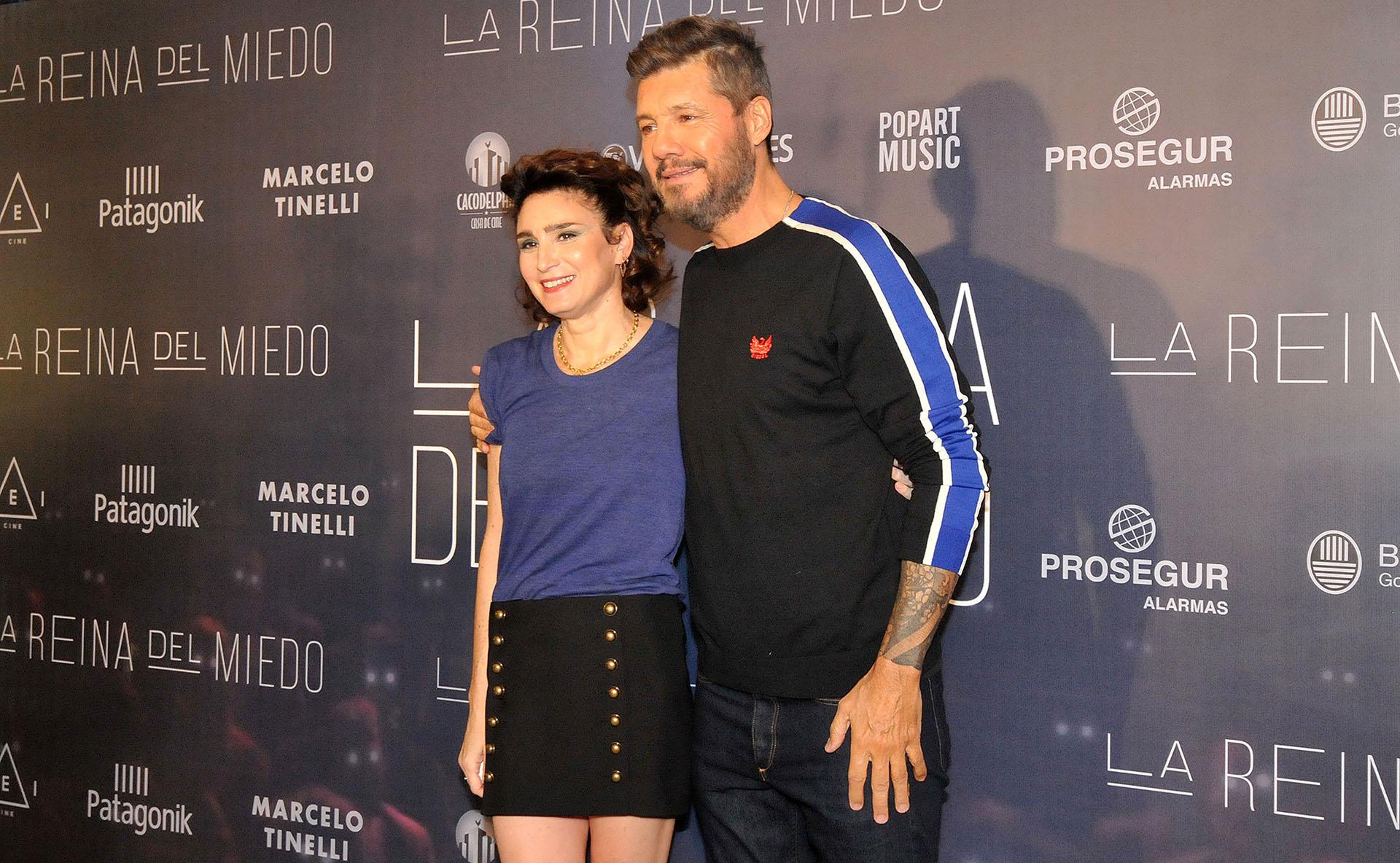 Valeria Bertuccelli y Marcelo Tinelli, coproductor de la película