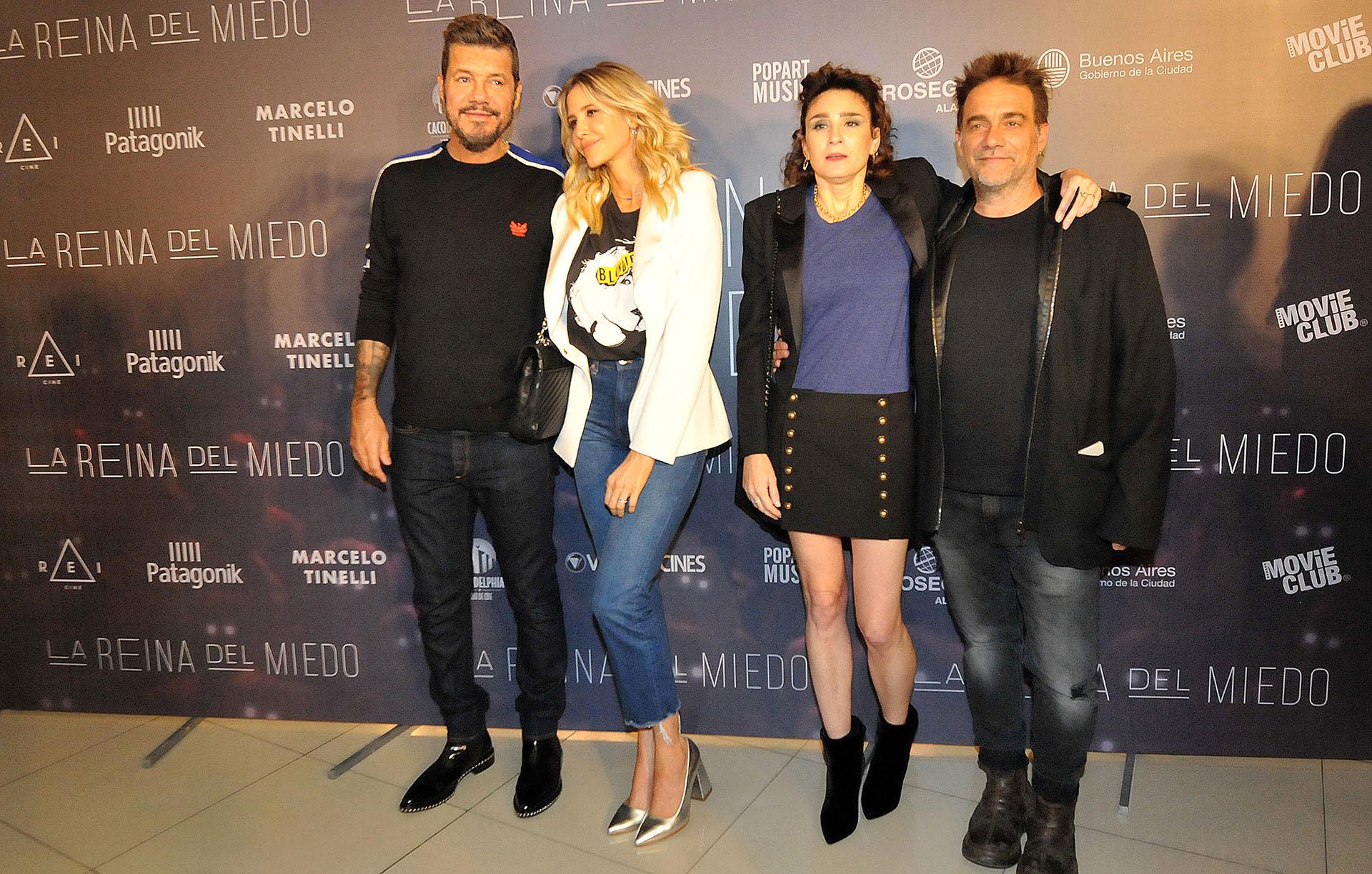 Marcelo Tinelli, Guillermina Valdes, Valeria Bertuccelli y Vicentico