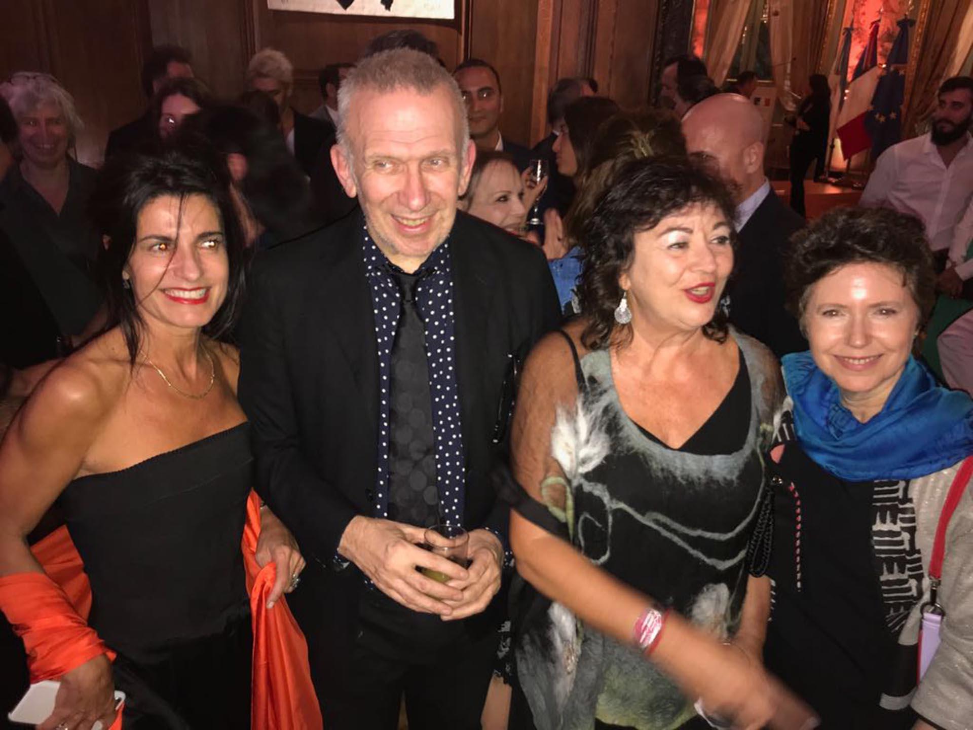 Mónica Orlando, Gaultier, Diana Saiegh y Margarita Melo