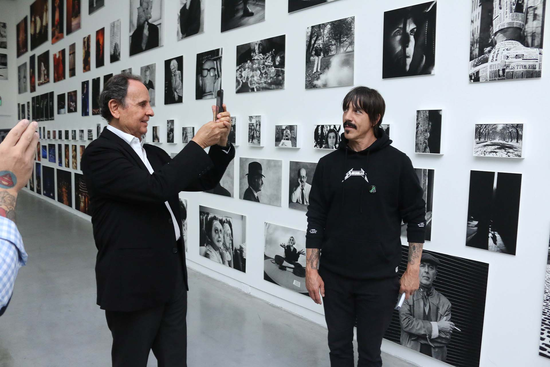 Aldo Sessa y Anthony Kiedis, líder de los Red Hot Chili Peppers