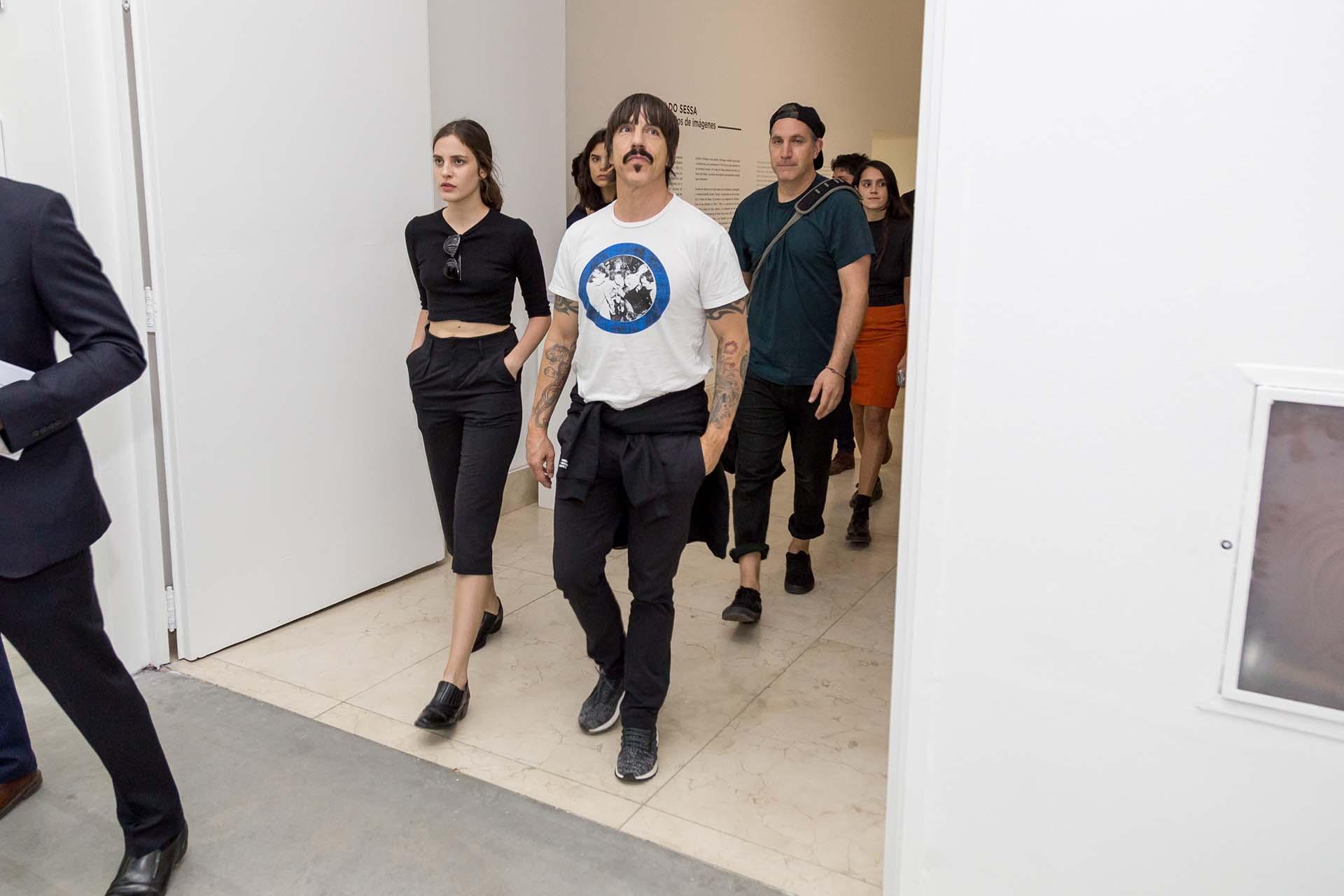 Anthony Kiedis quedó fascinado con los trabajos de Aldo Sessa