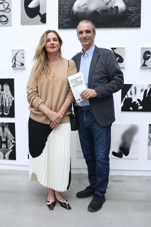 Paula Iorio, curadora de museos, y el arquitecto Alejandro Corres
