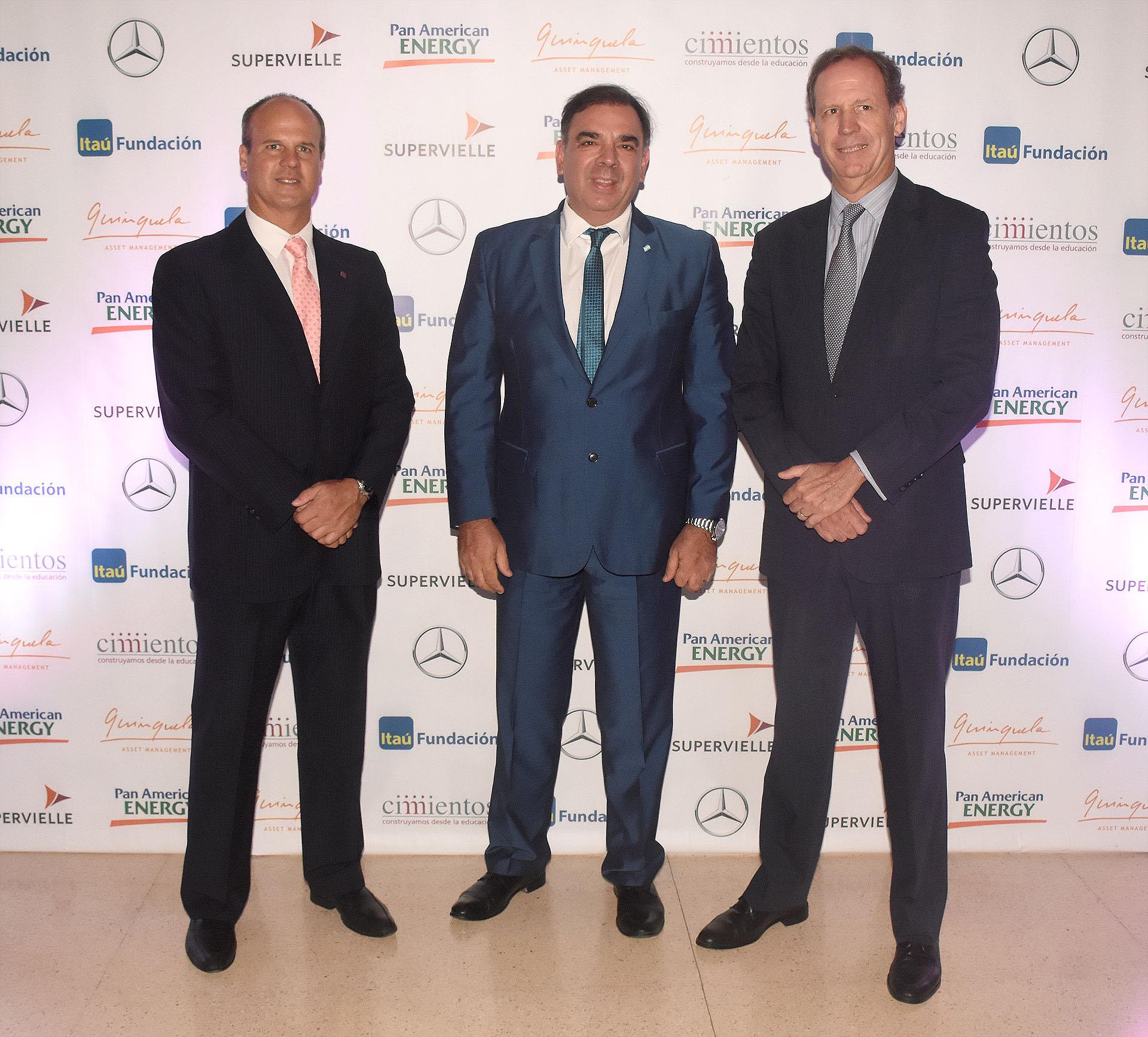 Marcelo Miniati, Luis Otero y Miguel Blaquier