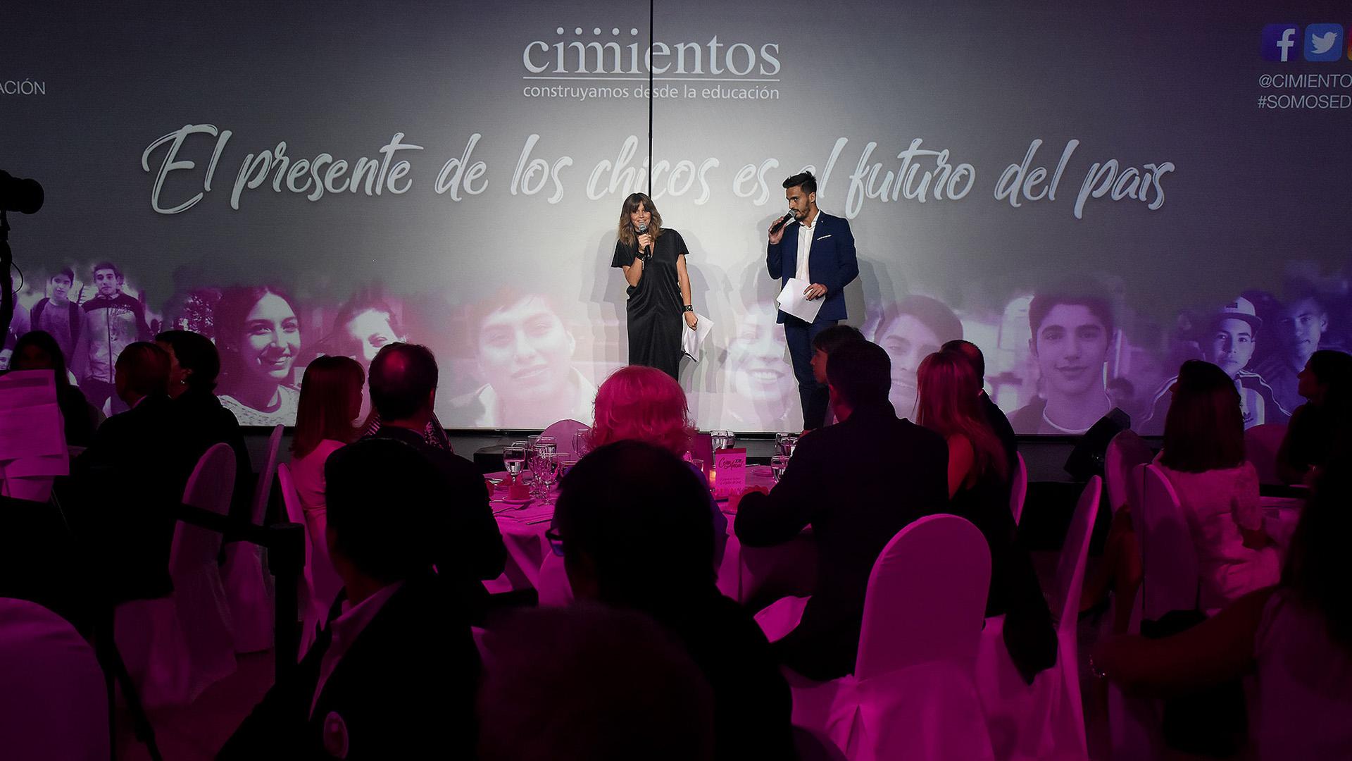 María Freytes y Juan Marconi, los encargados de conducir la cena anual
