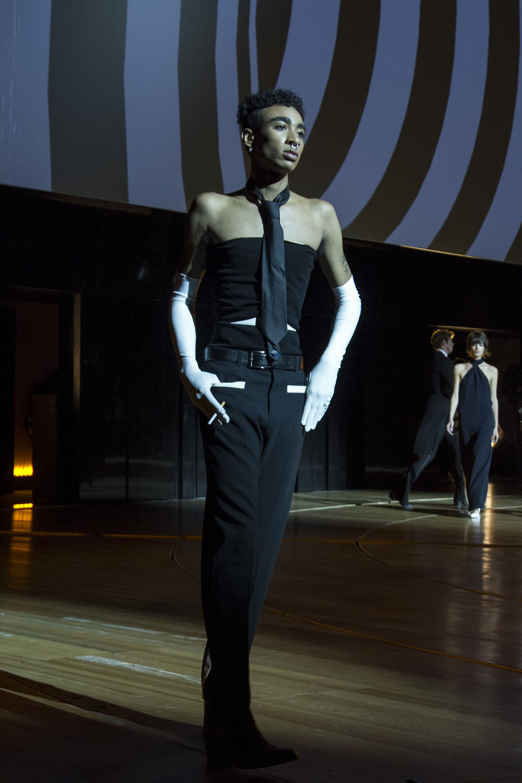 La moda masculina también fue protagonista de la pasarela de Gaultier