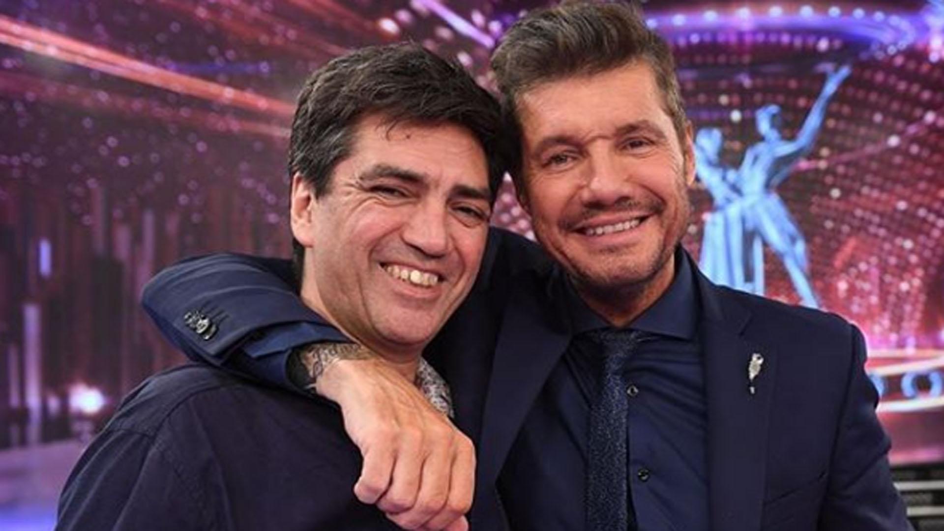 Tinelli, con Gerardo Folgueira