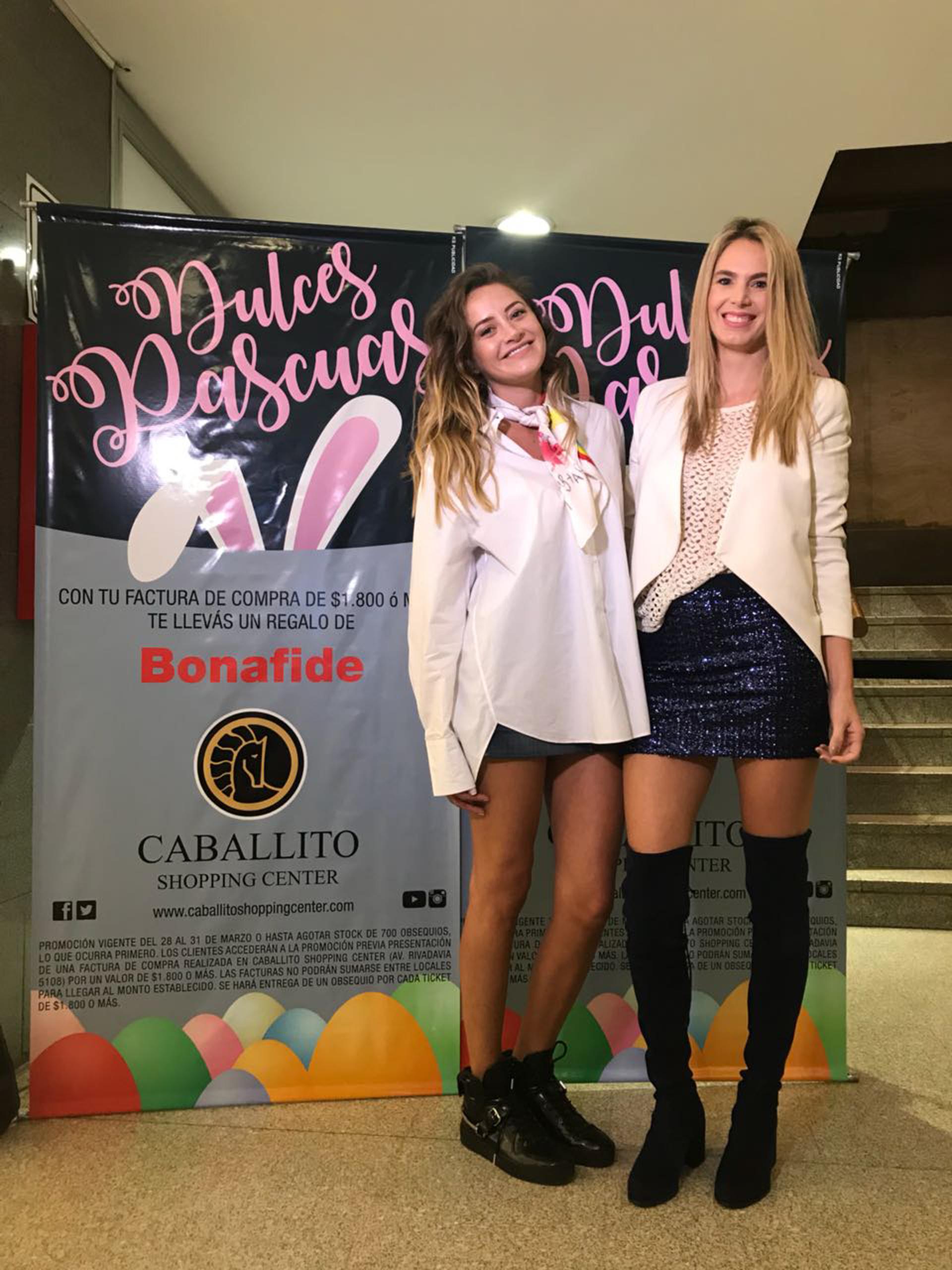 Melina Gadano y Rocío Vivas también disfrutaron de los locales del shopping