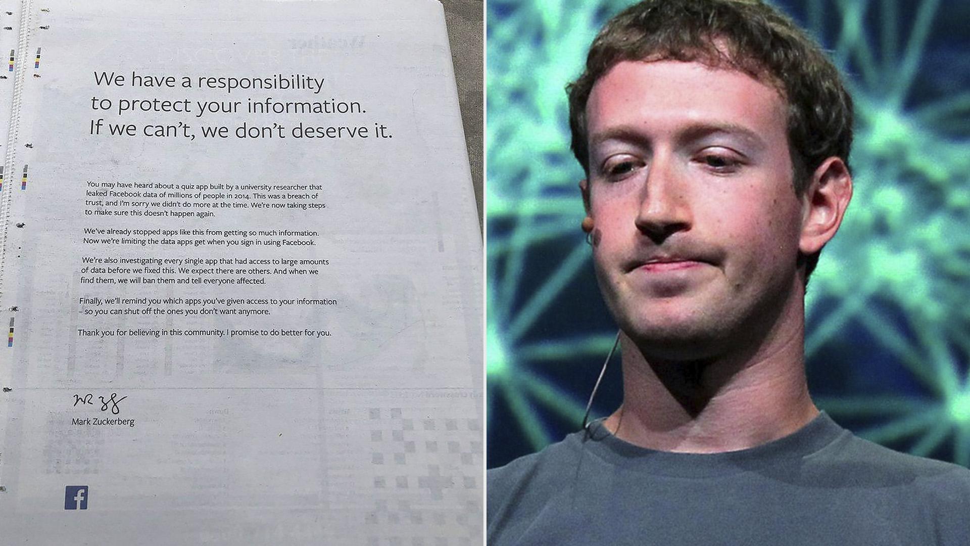 Zuckerberg volvió a asumir la responsabilidad de lo sucedido