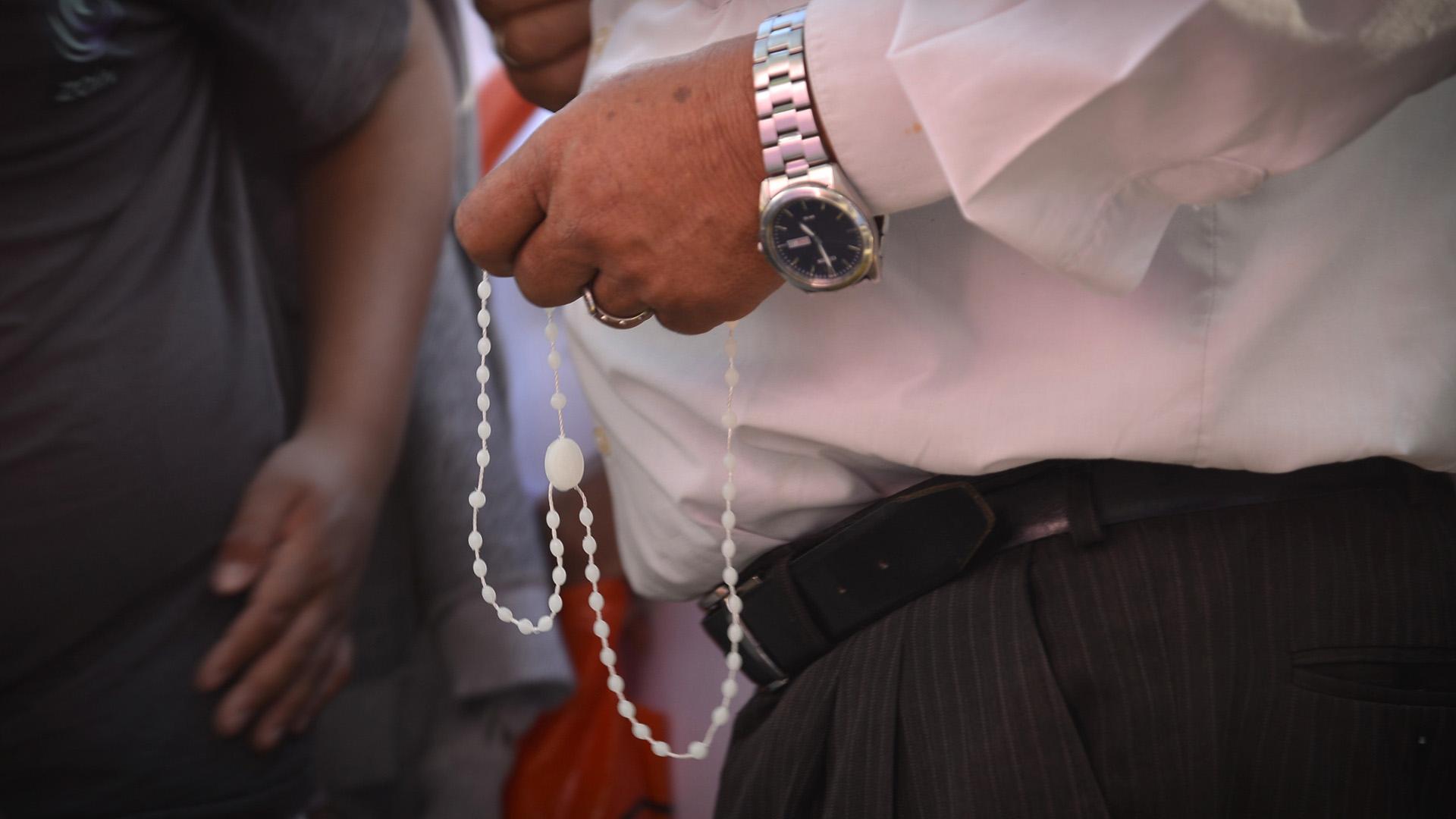 Lamovilización coincidió con la celebración del Domingo de Ramos de la Iglesia Católica