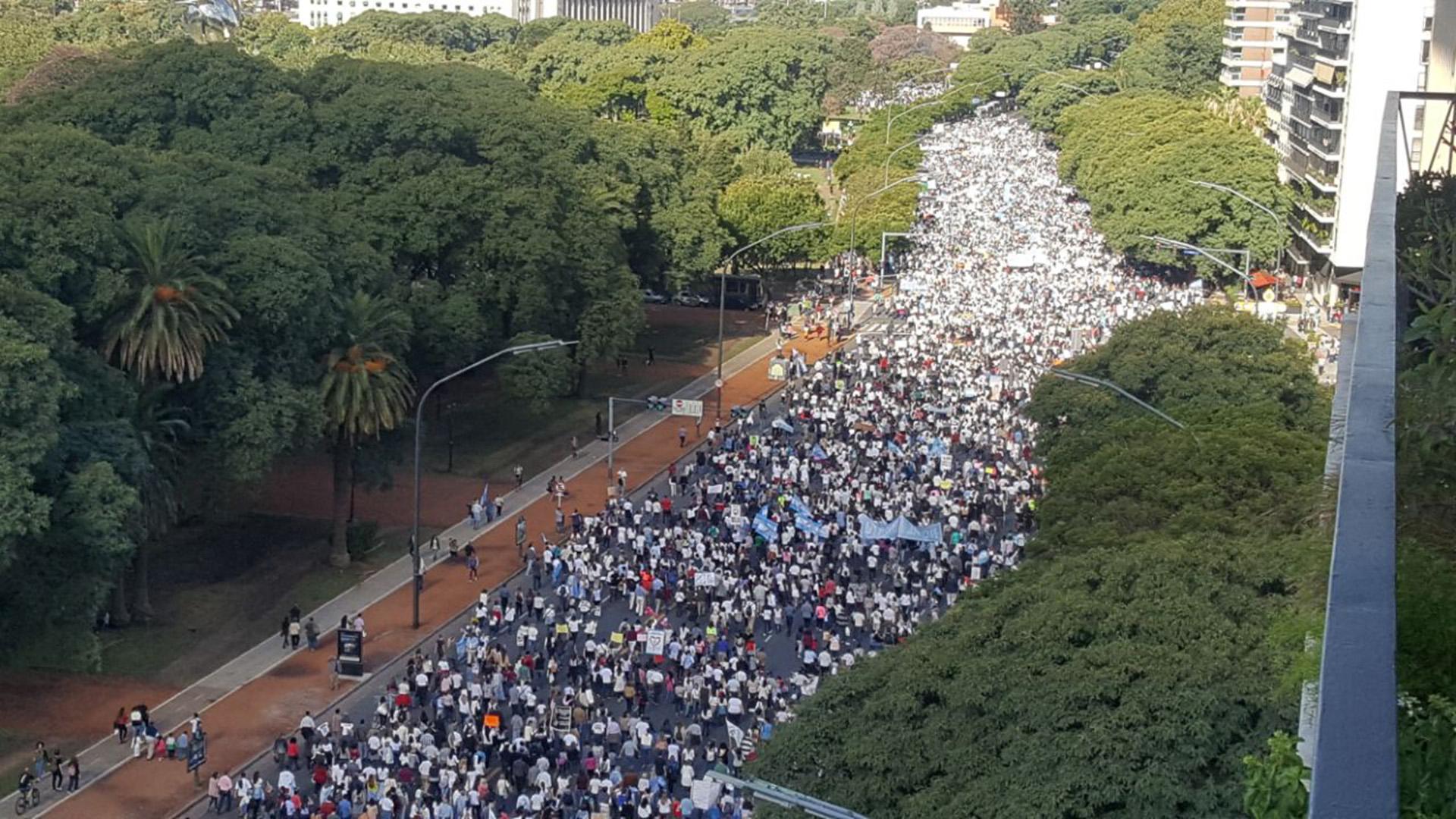 Palermo: la marcha en contra del aborto y a favor de la vida del 25 de marzo pasado