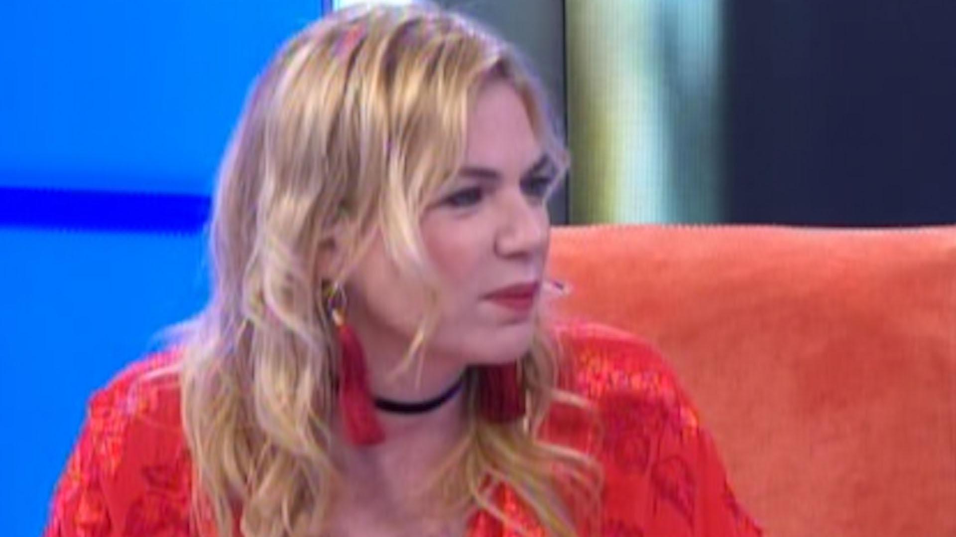 """Esmeralda Mitre, durante la entrevista en """"Infama Recargado"""""""