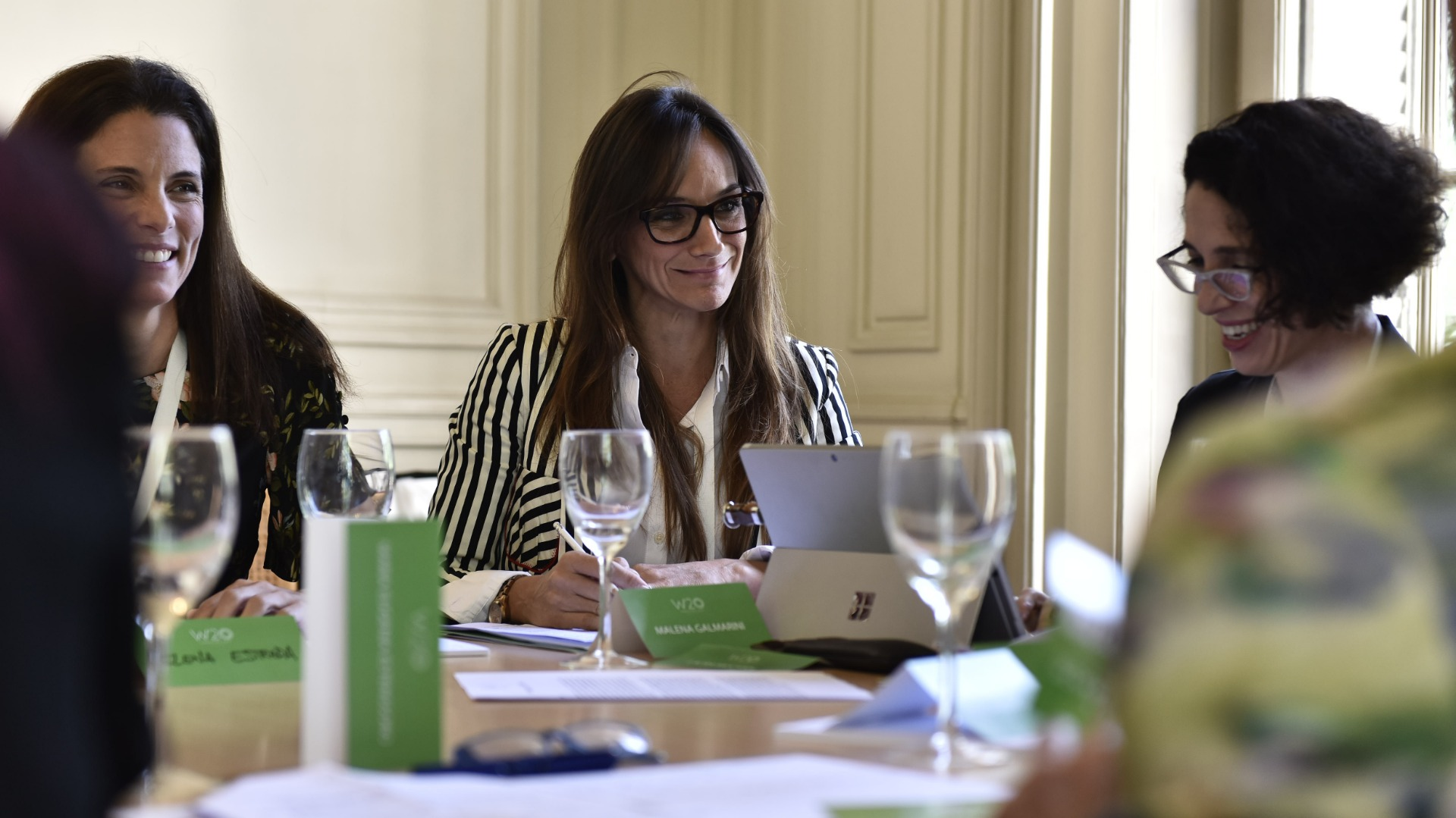 Malena Galmarini, en la Mesa del Sector Público