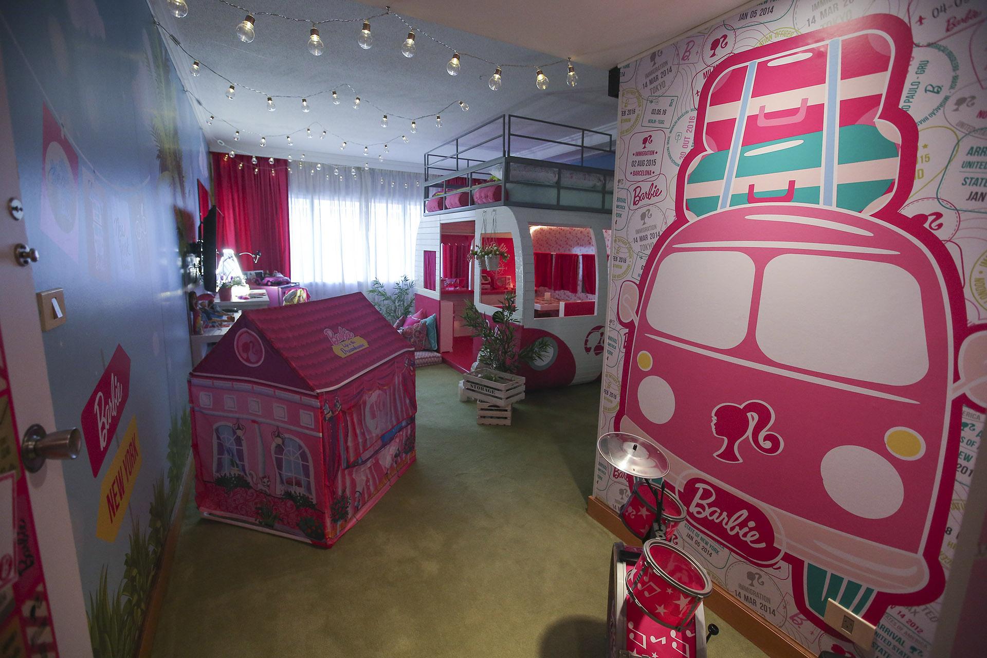 La habitación con una propuesta completa que reúne diversión y glamour.