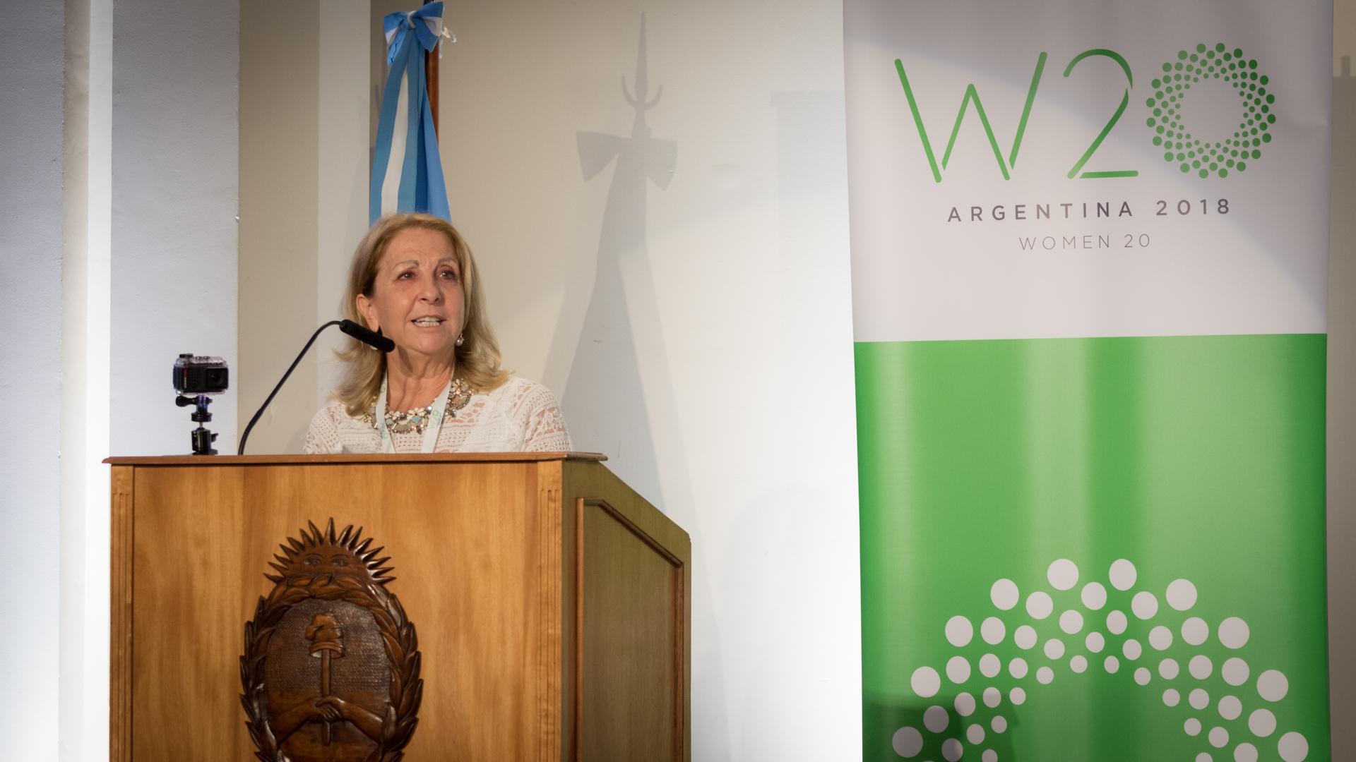 Susana Balbo, presidente del W20
