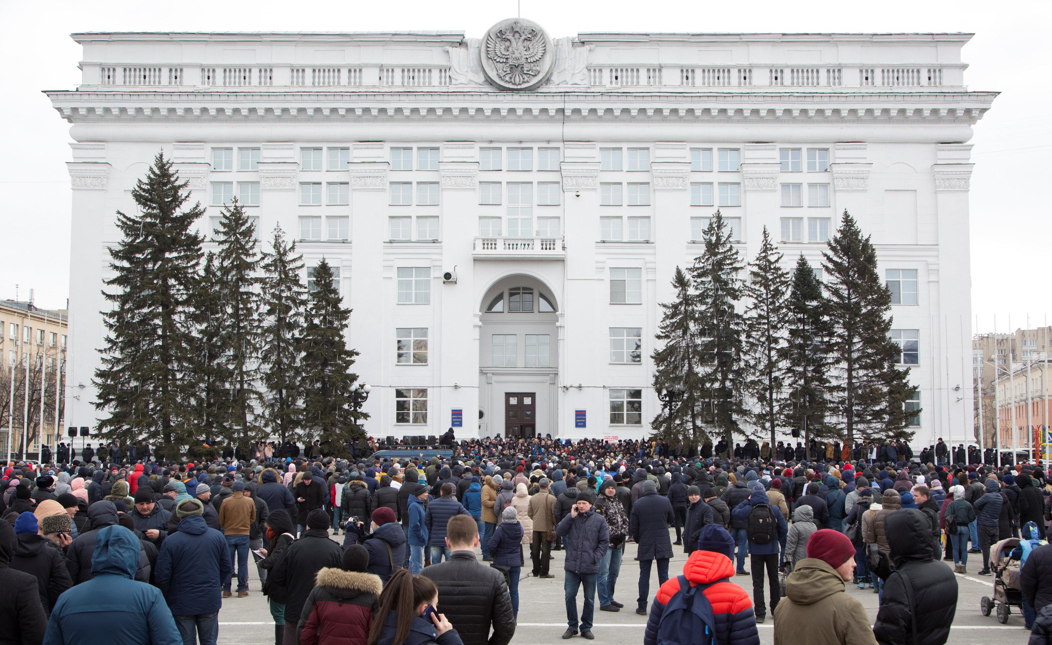 La plaza central deKemerovo, Rusia (REUTERS/Marina Lisova)