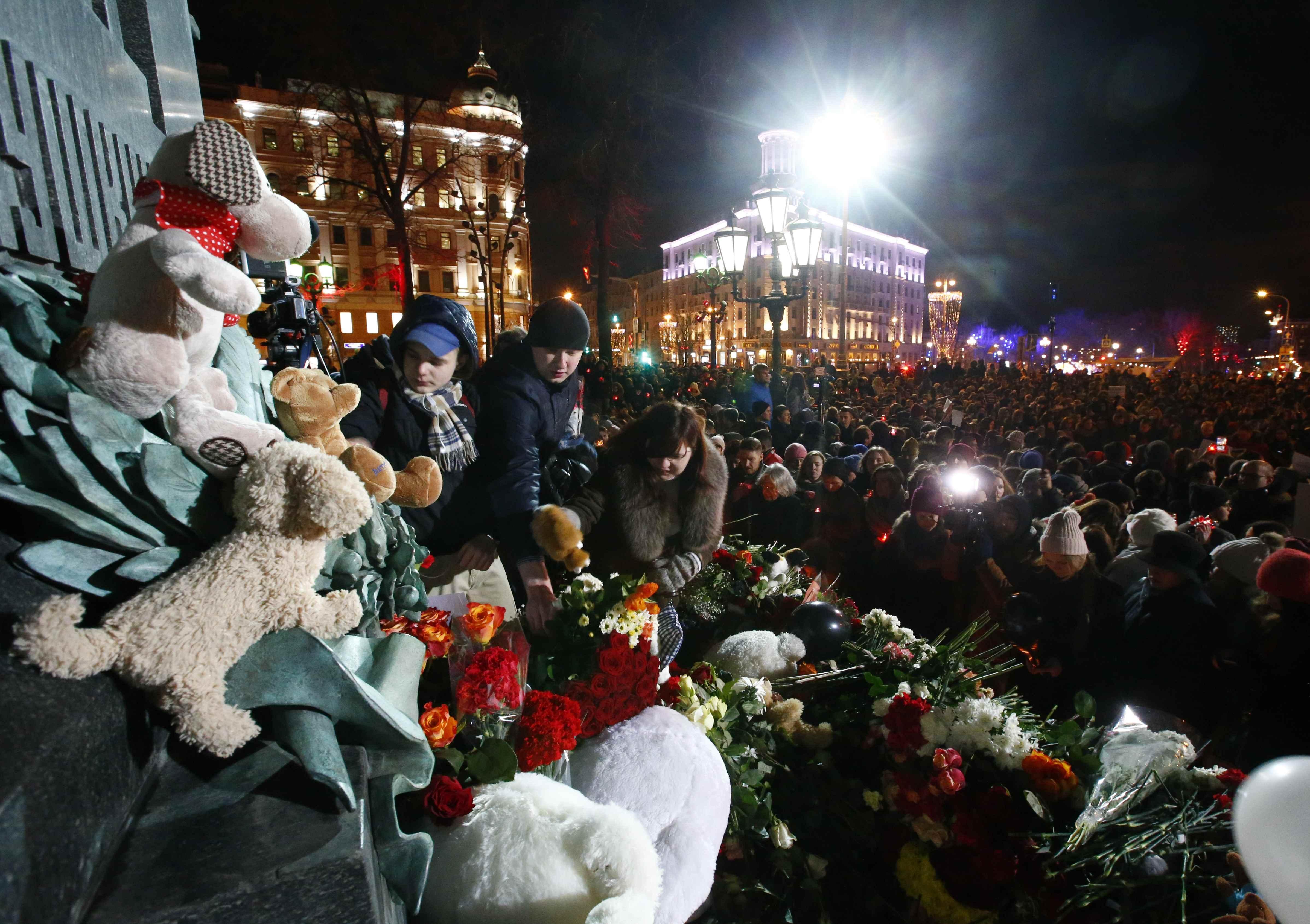 Manifestación en la plaza Pushkin en Moscú, Russia (REUTERS/Sergei Karpukhin)