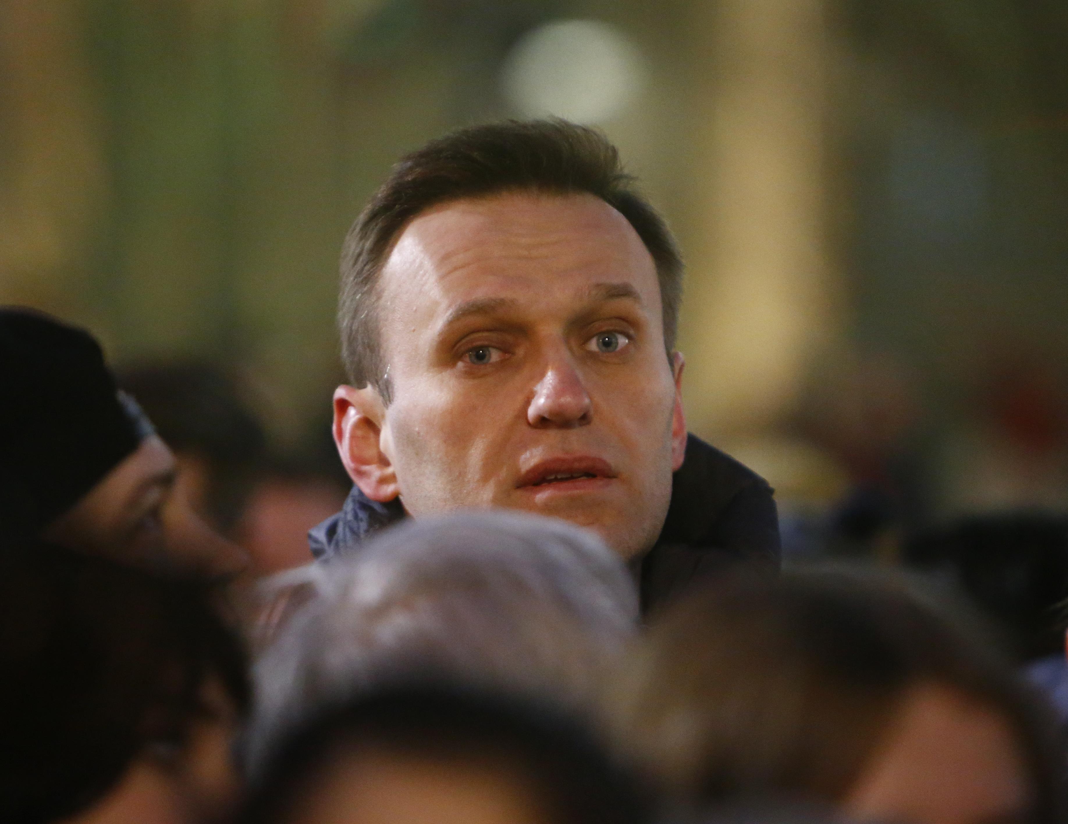 El opositor Alexei Navalny durante una manifestación enMoscú ( REUTERS/Sergei Karpukhin)