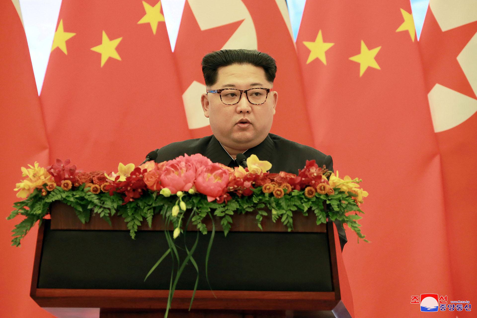 El dictador norcoreano Kim Jong-un (KCNA/via Reuters)