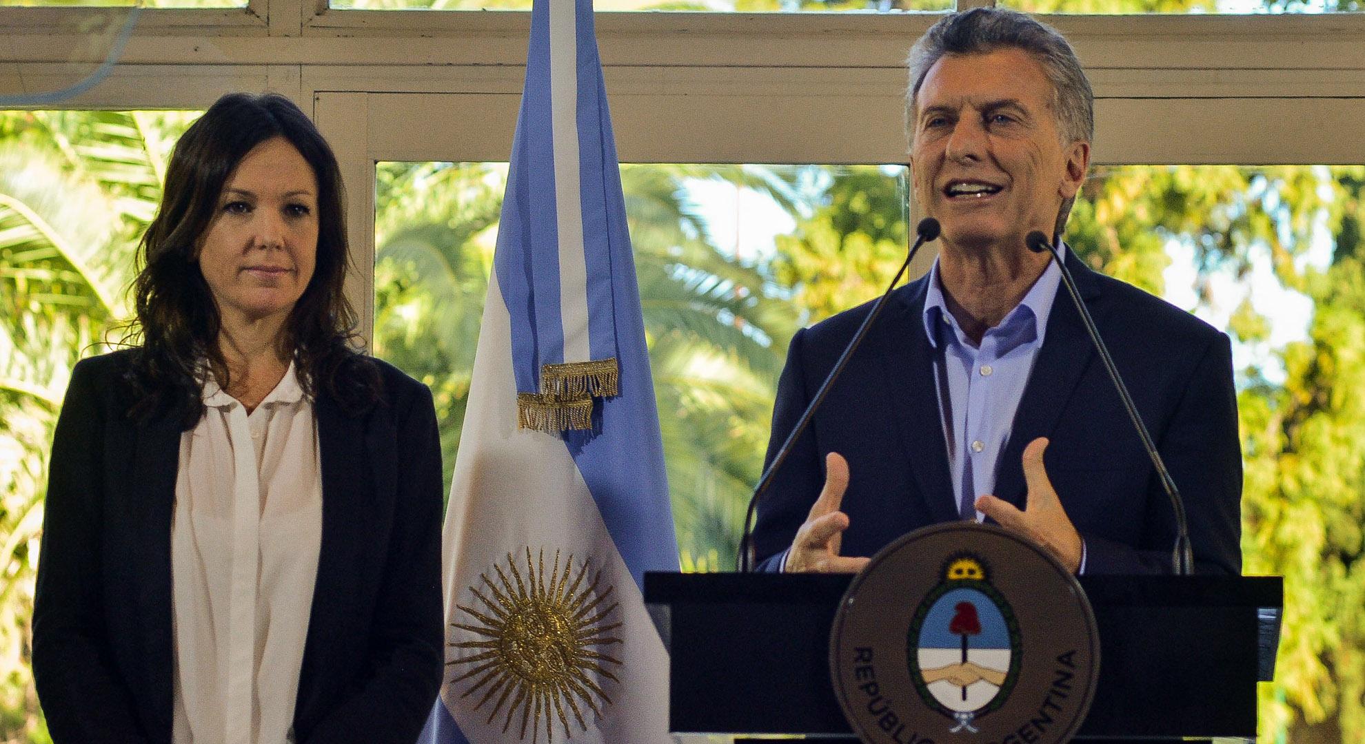 Mauricio Macri, esta semana, al anunciar el nuevo índice de pobreza (Prensa presidencia)