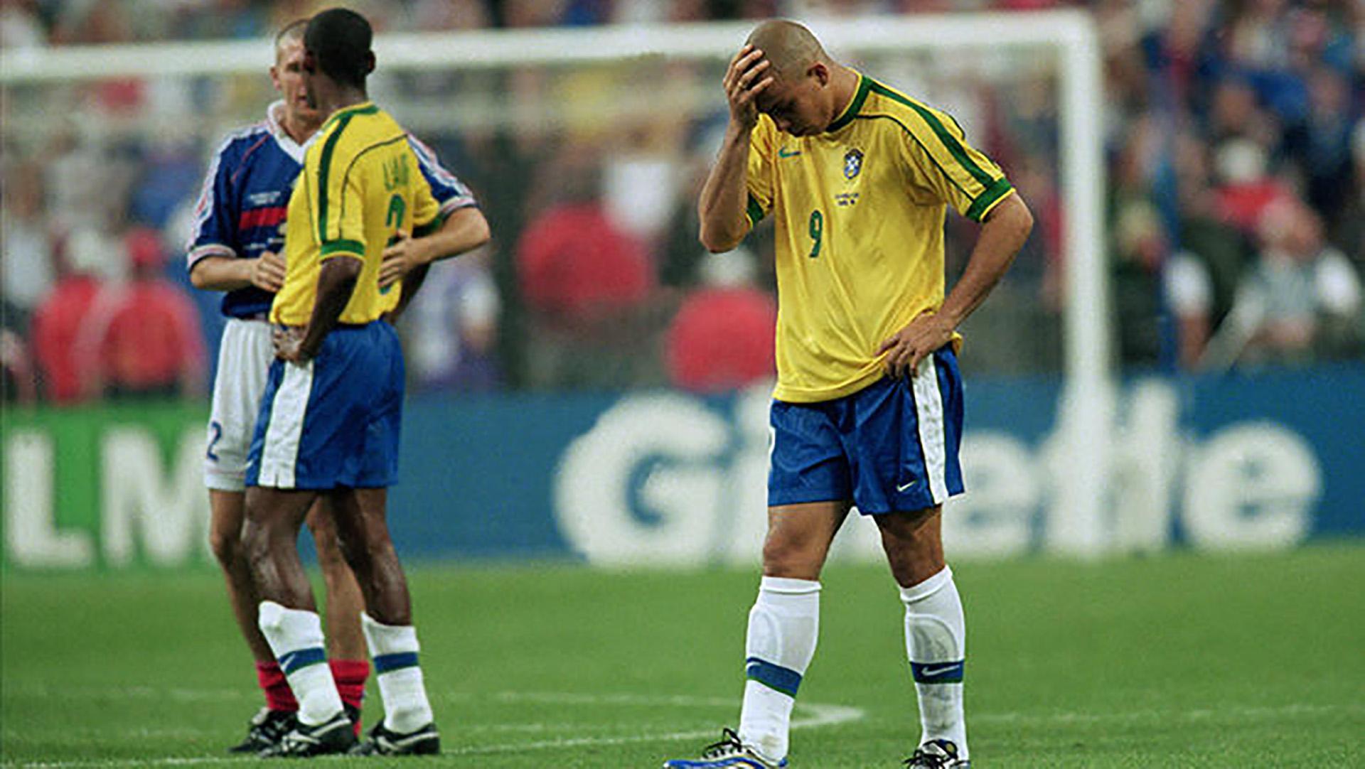 Ronaldo jugó la final del Mundial de Francia 1998 tras sufrir convulsiones en el hotel (Getty Images)