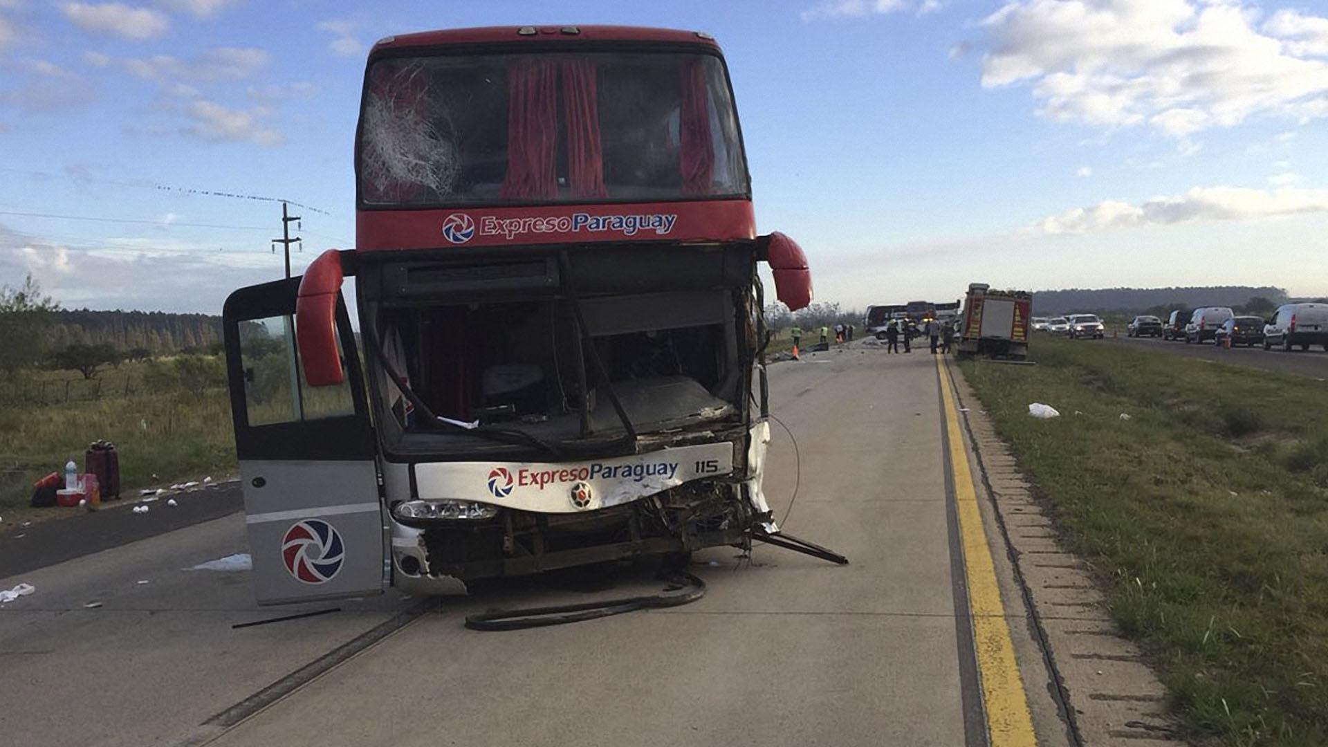 Del micro, el único que resultó herido fue el conductor