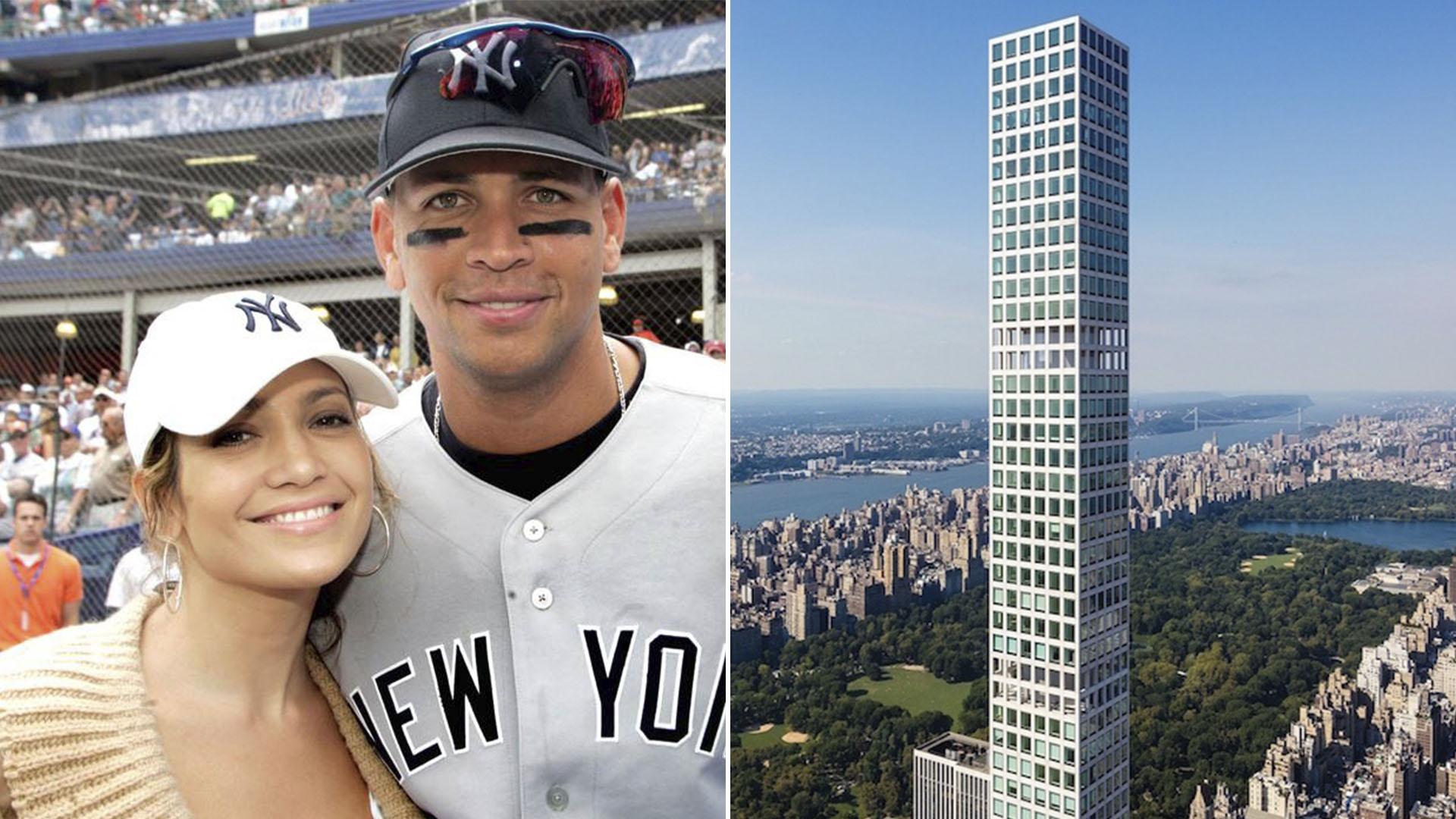 Jennifer Lopez y Alex Rodriguez y el lujoso edificio de Nueva York