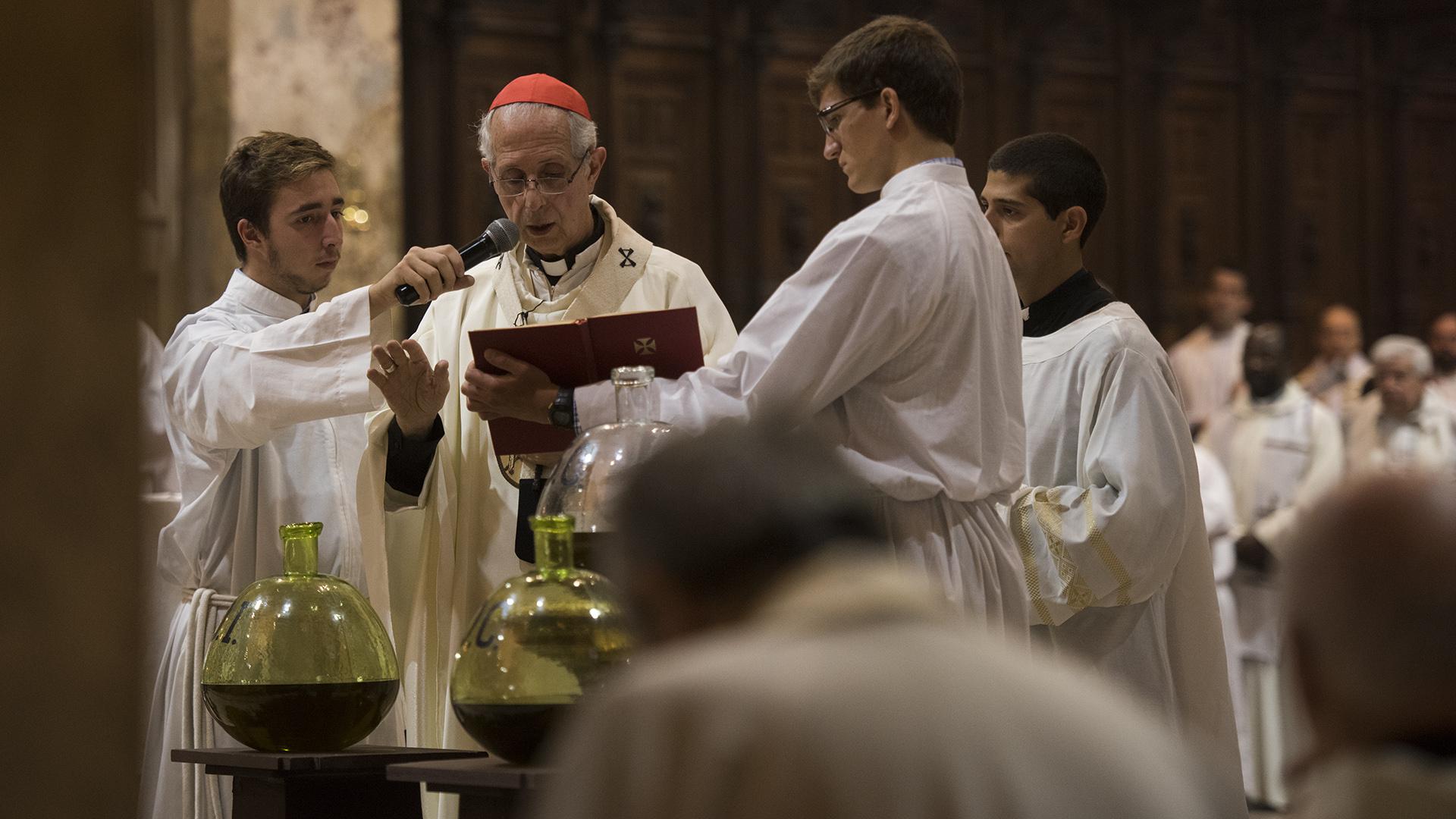 El cardenal encabezó la Misa Crismal
