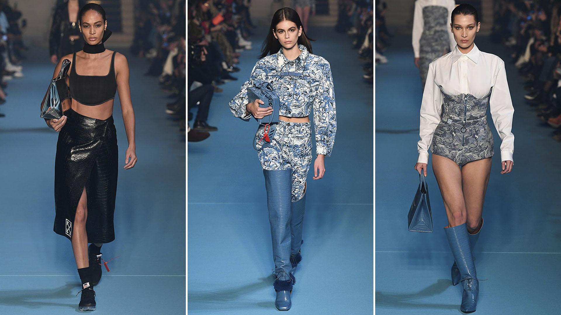 Joan Smalls, Kaia Gerber y Bella Hadid, las estrellas del desfile de Off-White en París Fashion Week 2018