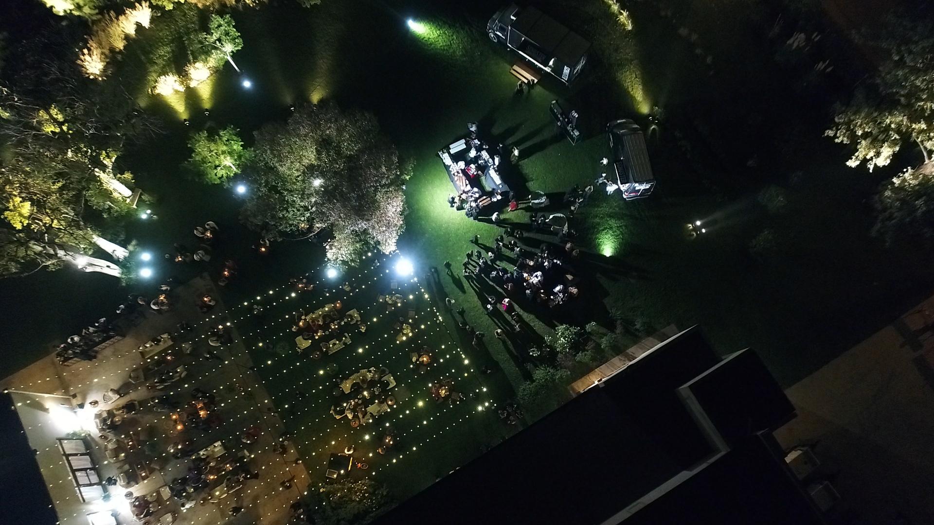 La impomnente vista del lugar, desde el drone de Infobae